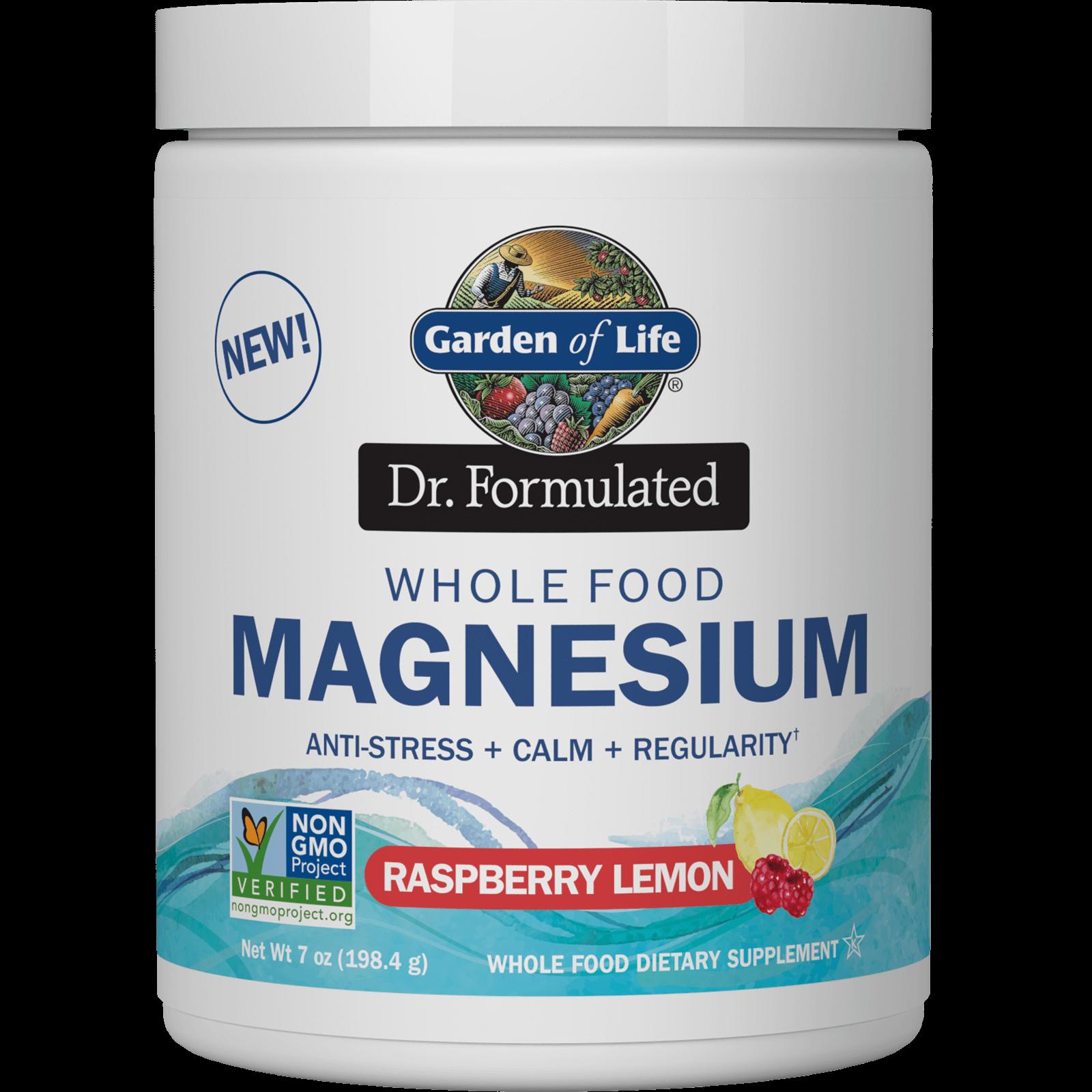 Wholefood-magnesiumpoeder - framboos/citroen - 198,4 g