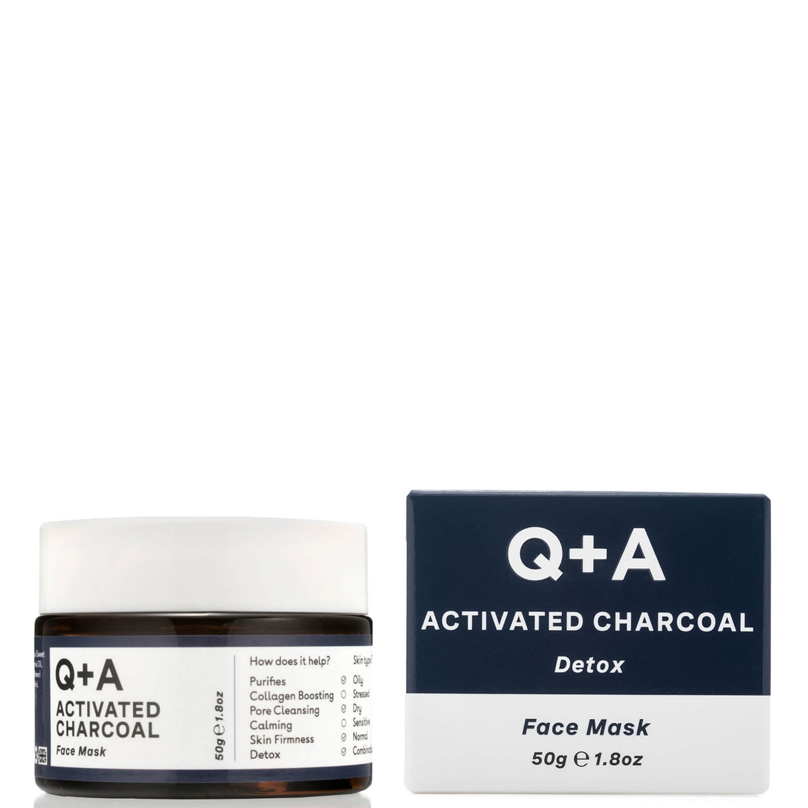 best Q+A ACTIVATED CHARCOAL FACE MASK