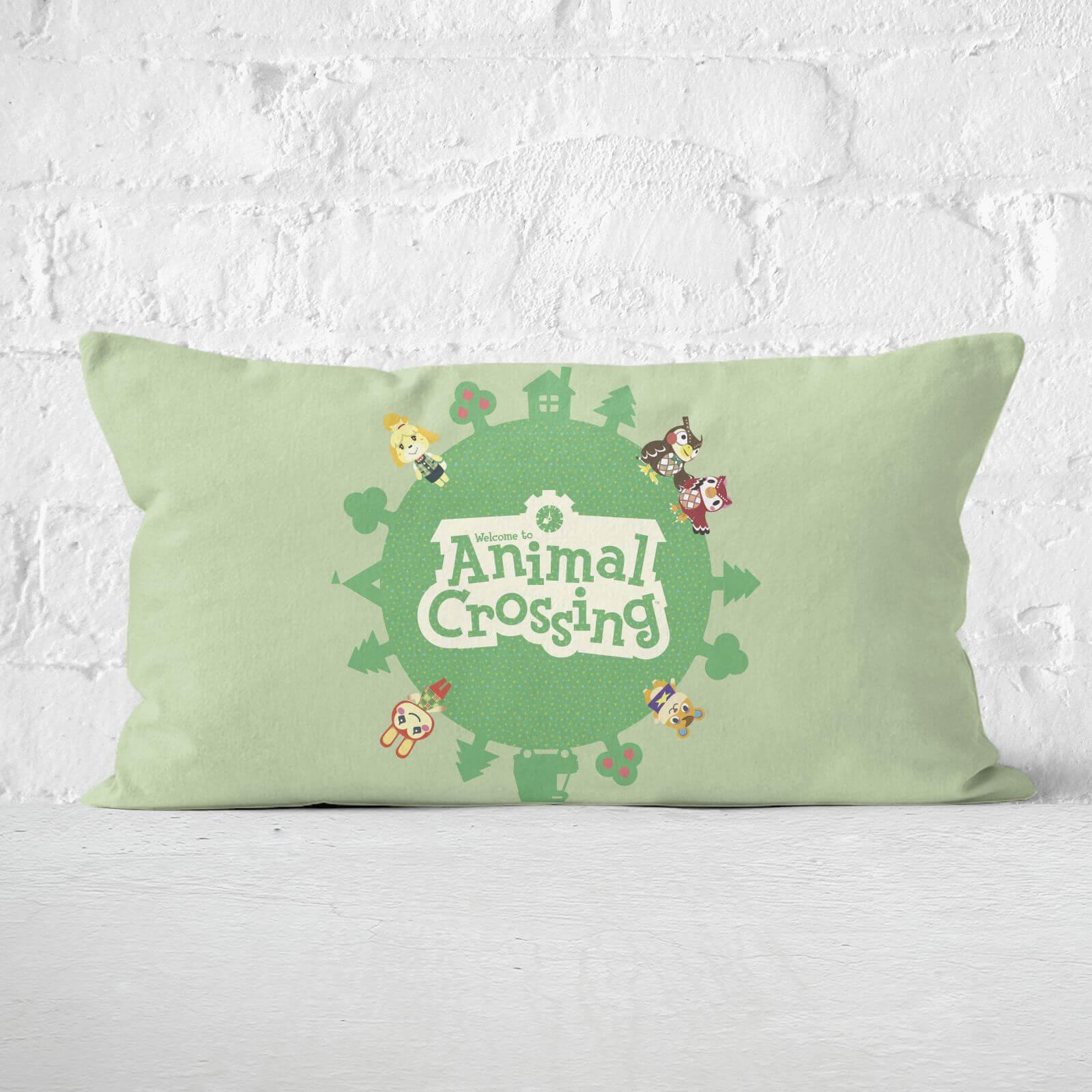 Animal Crossing Rectangular Cushion - 30x50cm - Eco Friendly
