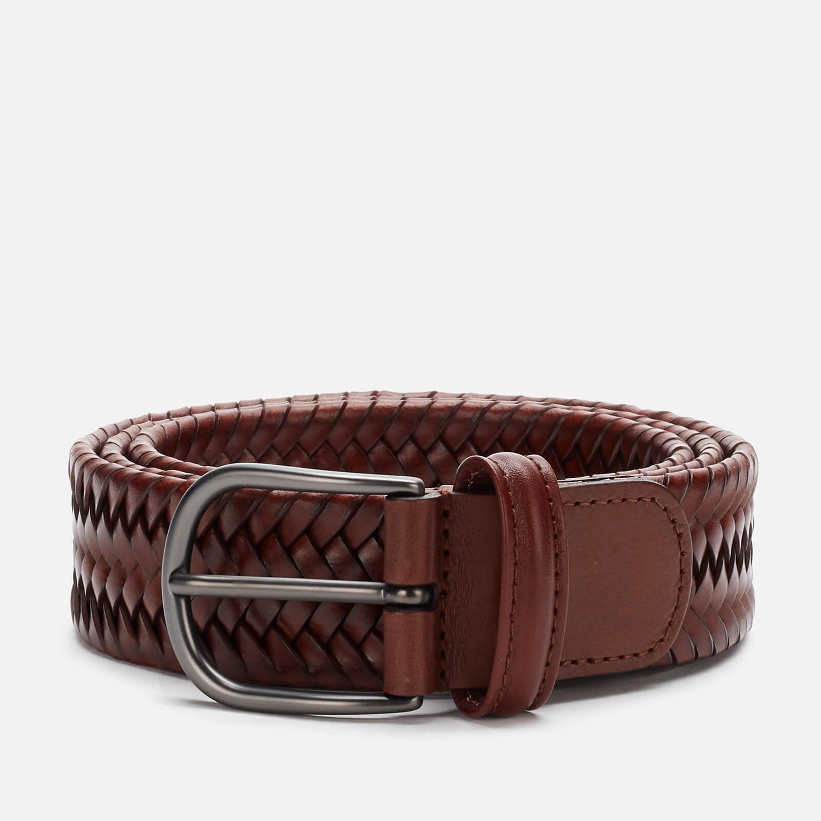Anderson's Men's Matt Buckle Woven Belt - Brown - W30/S