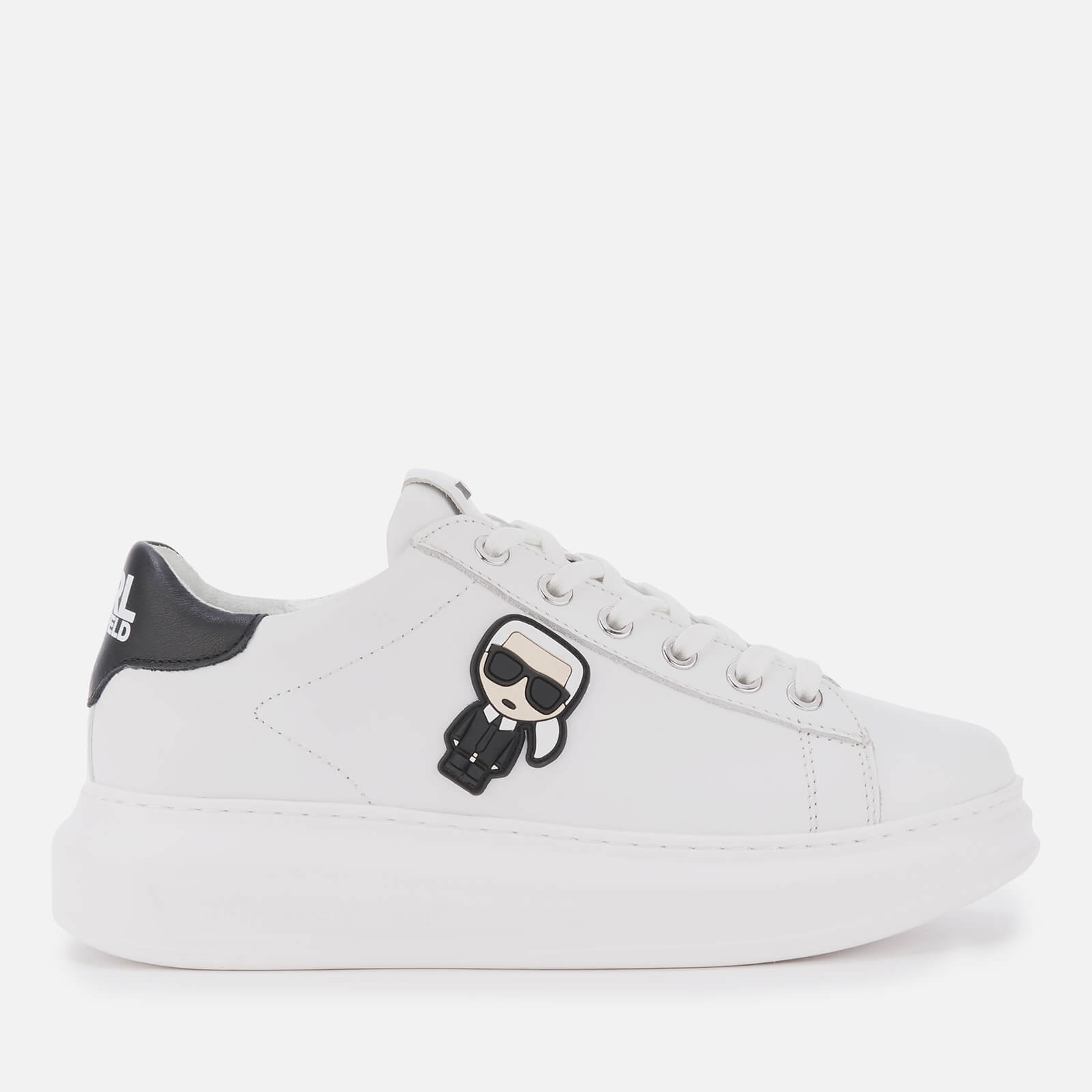 Click to view product details and reviews for Karl Lagerfeld Womens Kapri Karl Ikonic Leather Chunky Trainers White Black Uk 2.