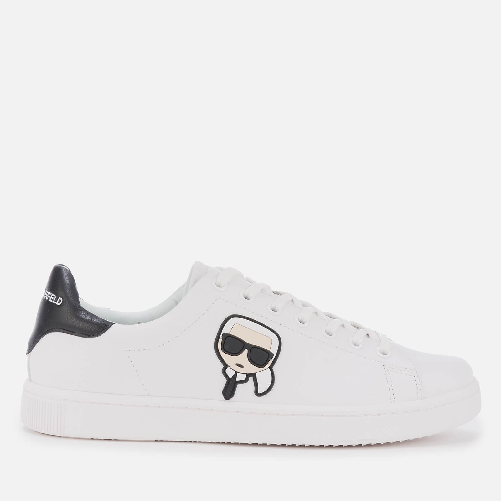 Click to view product details and reviews for Karl Lagerfeld Mens Kourt Karl Ikonic 3d Lace Leather Cupsole Trainers White Black Uk 9.