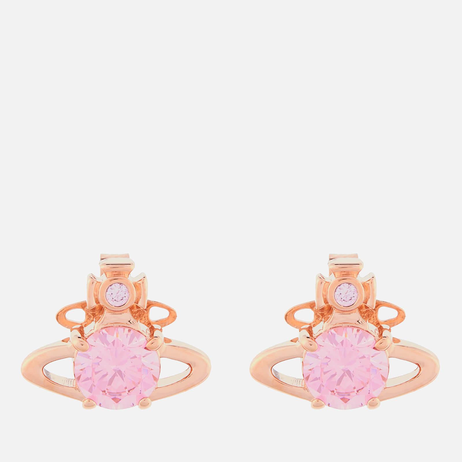 Vivienne Westwood Women's Reina Earrings - Pink Gold Pink CZ
