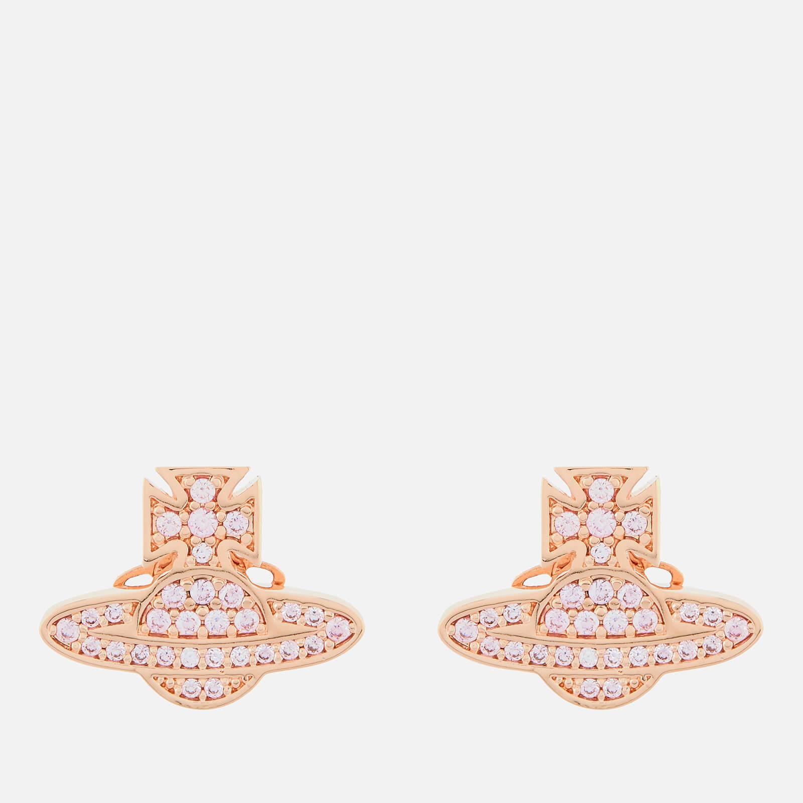 Vivienne Westwood Women's Romina Pave Orb Earrings - Pink Gold