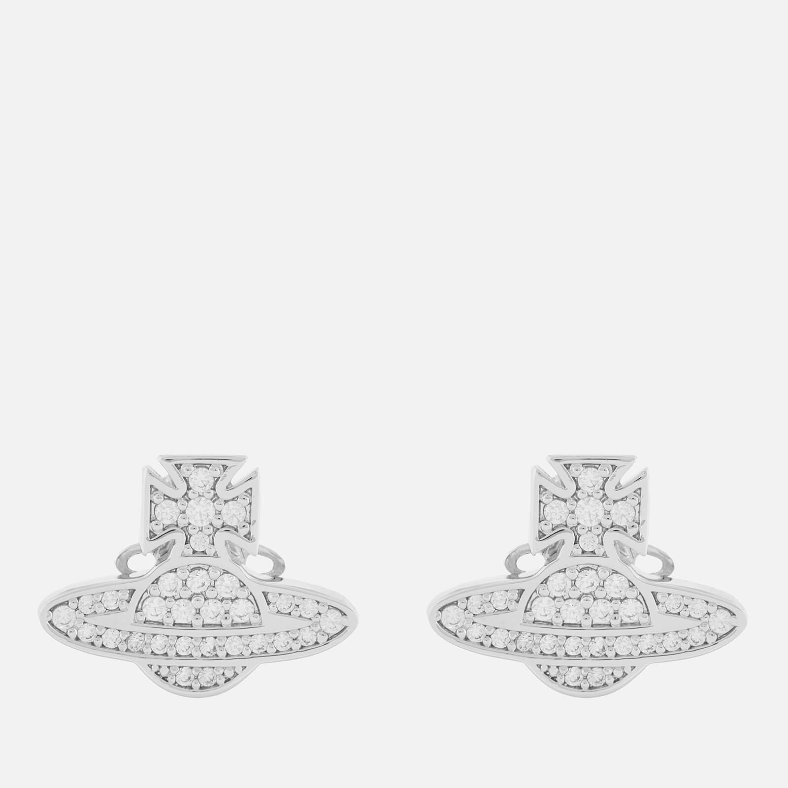 Vivienne Westwood Women's Romina Pave Orb Earrings - Rhodium White