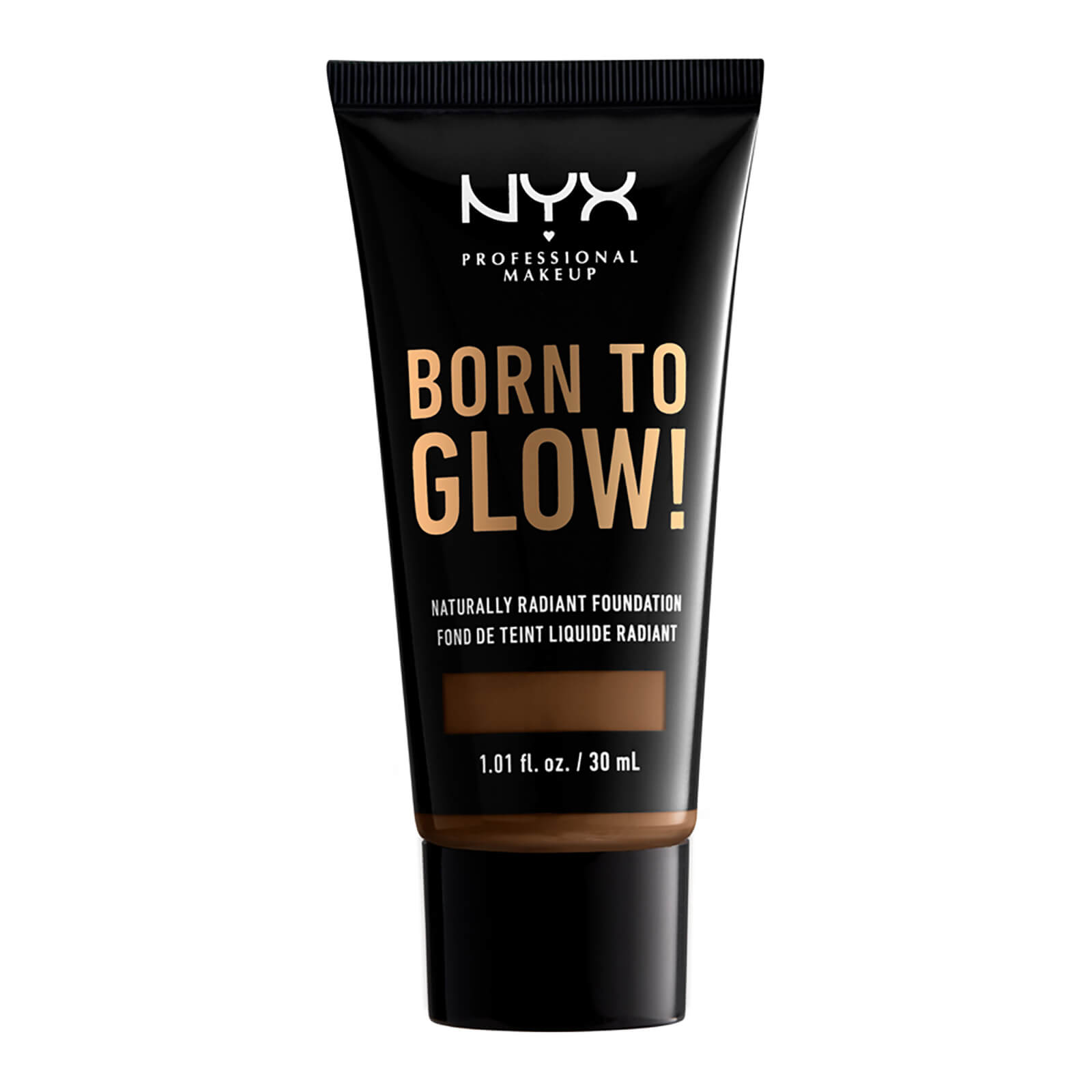nyx professional makeup born to glow naturally radiant foundation 30ml (various shades) - cocoa