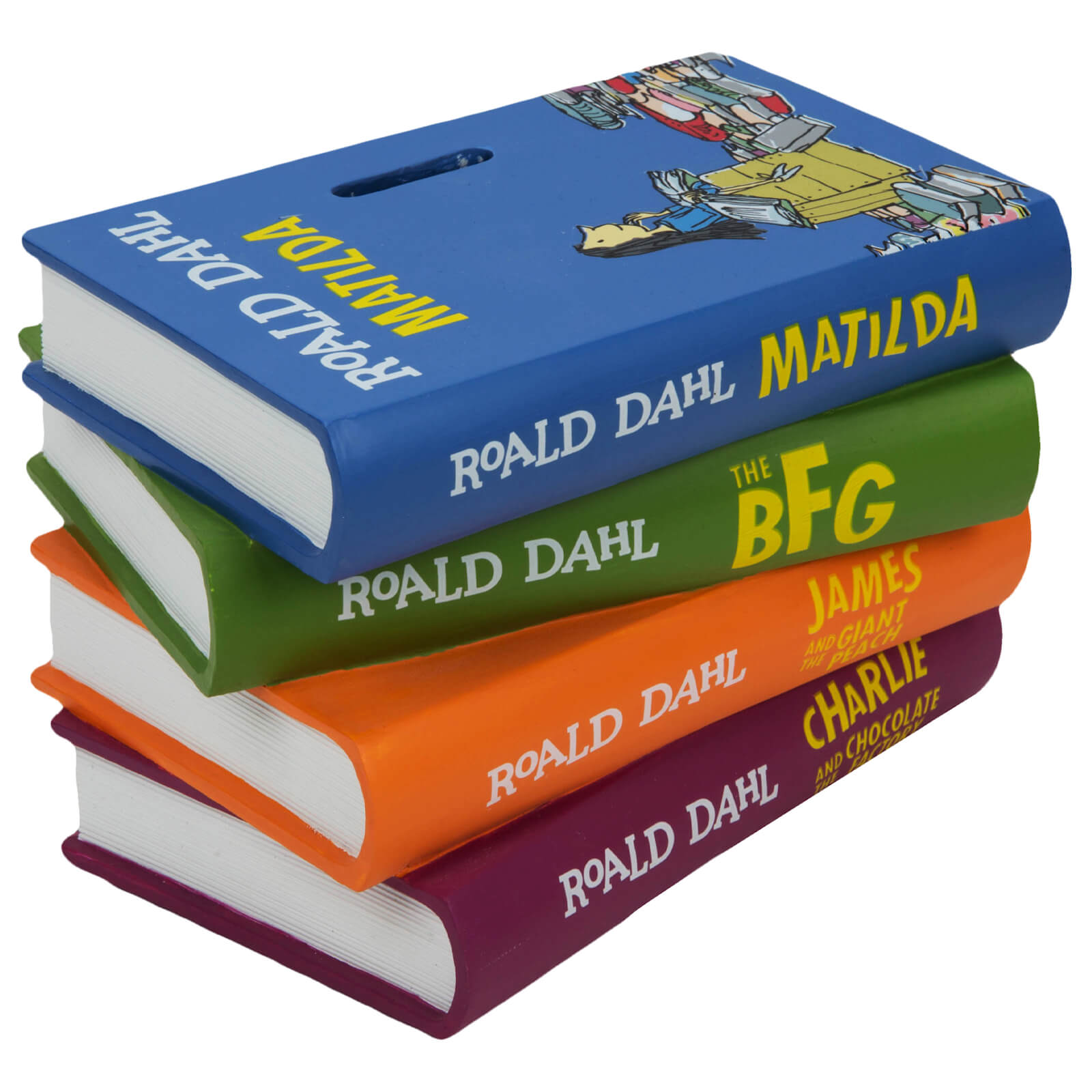Image of Roald Dahl Matilda Pile of Books Money Box