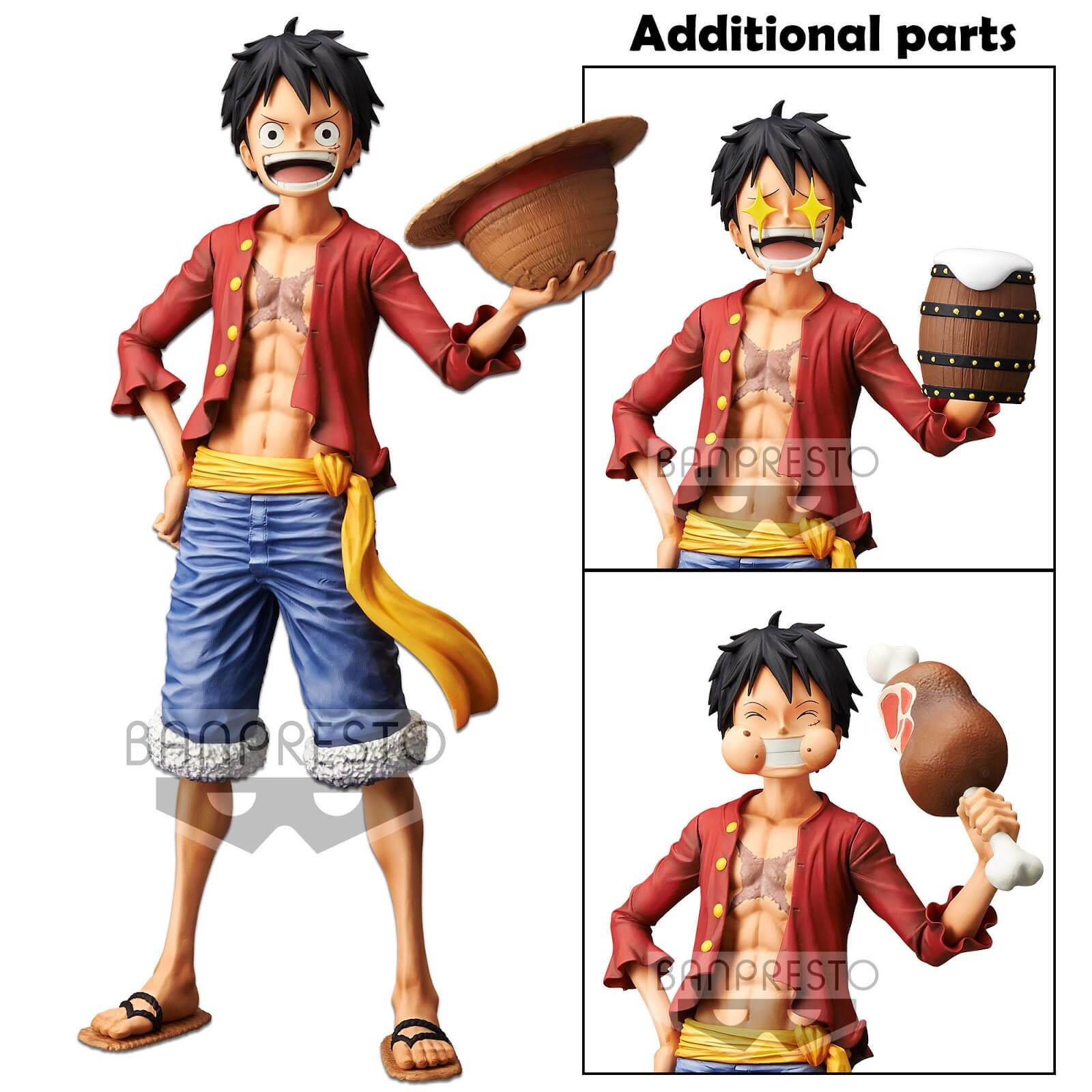 Image of Banpresto One Piece Monkey.D.Luffy Grandista Nero Statue