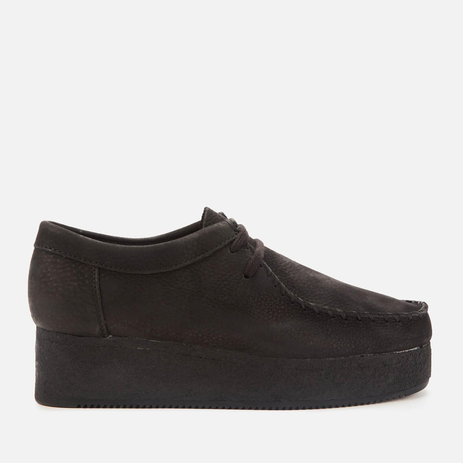 Clarks Originals Women's Wallacraft Low Nubuck Flatform Shoes - Black - UK 4