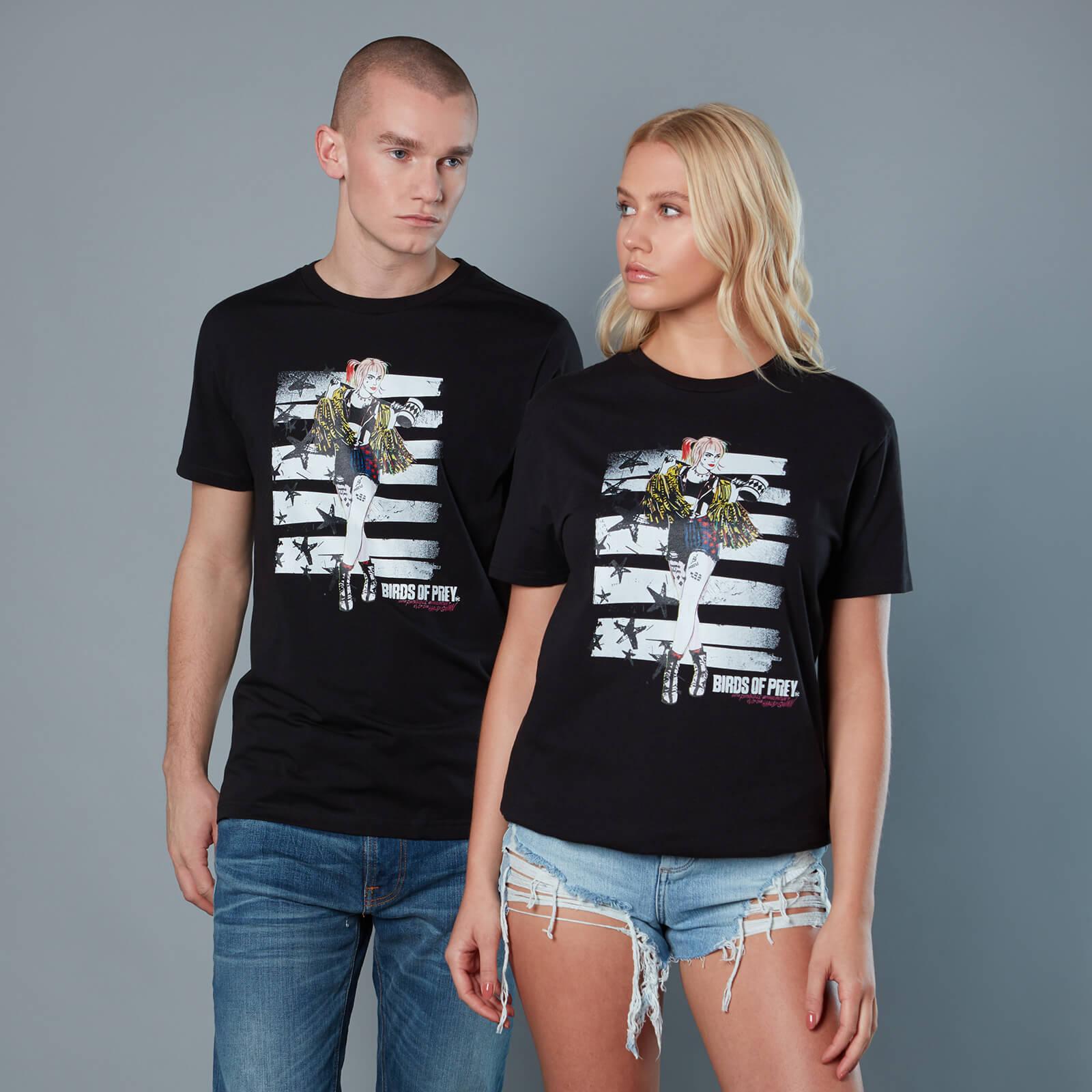 Harley Quinn Block Panel Unisex Birds of Prey T-Shirt - Schwarz - XXL - Schwarz