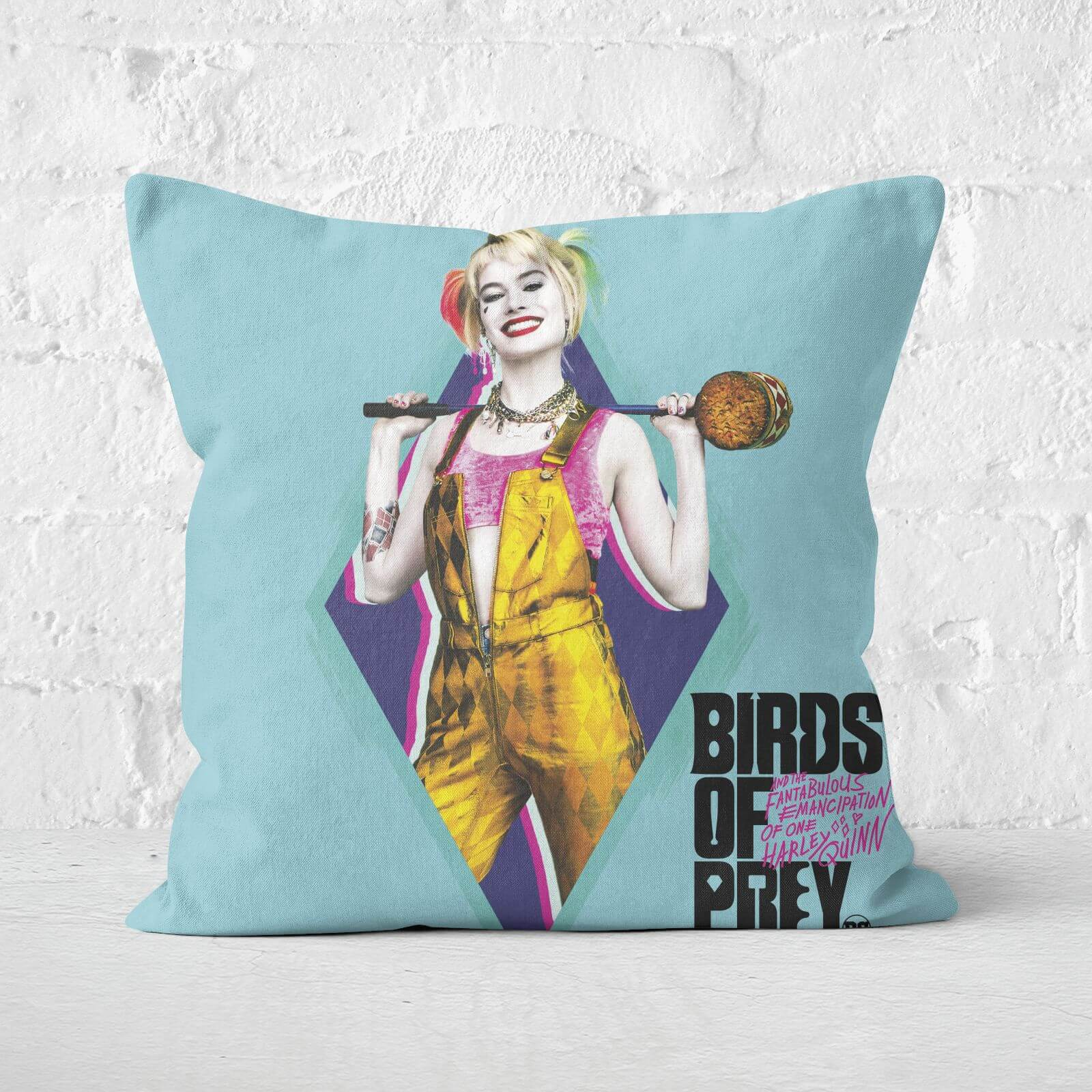 Harley Quinn Square Cushion 40x40cm Eco Friendly