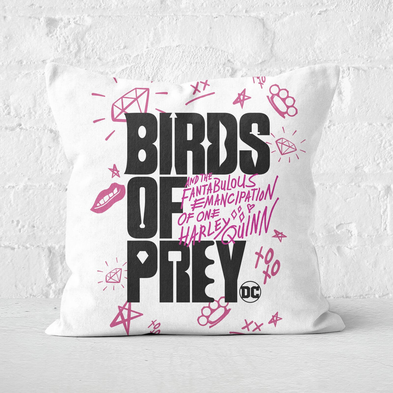 Birds of Prey Square Cushion 40x40cm Eco Friendly