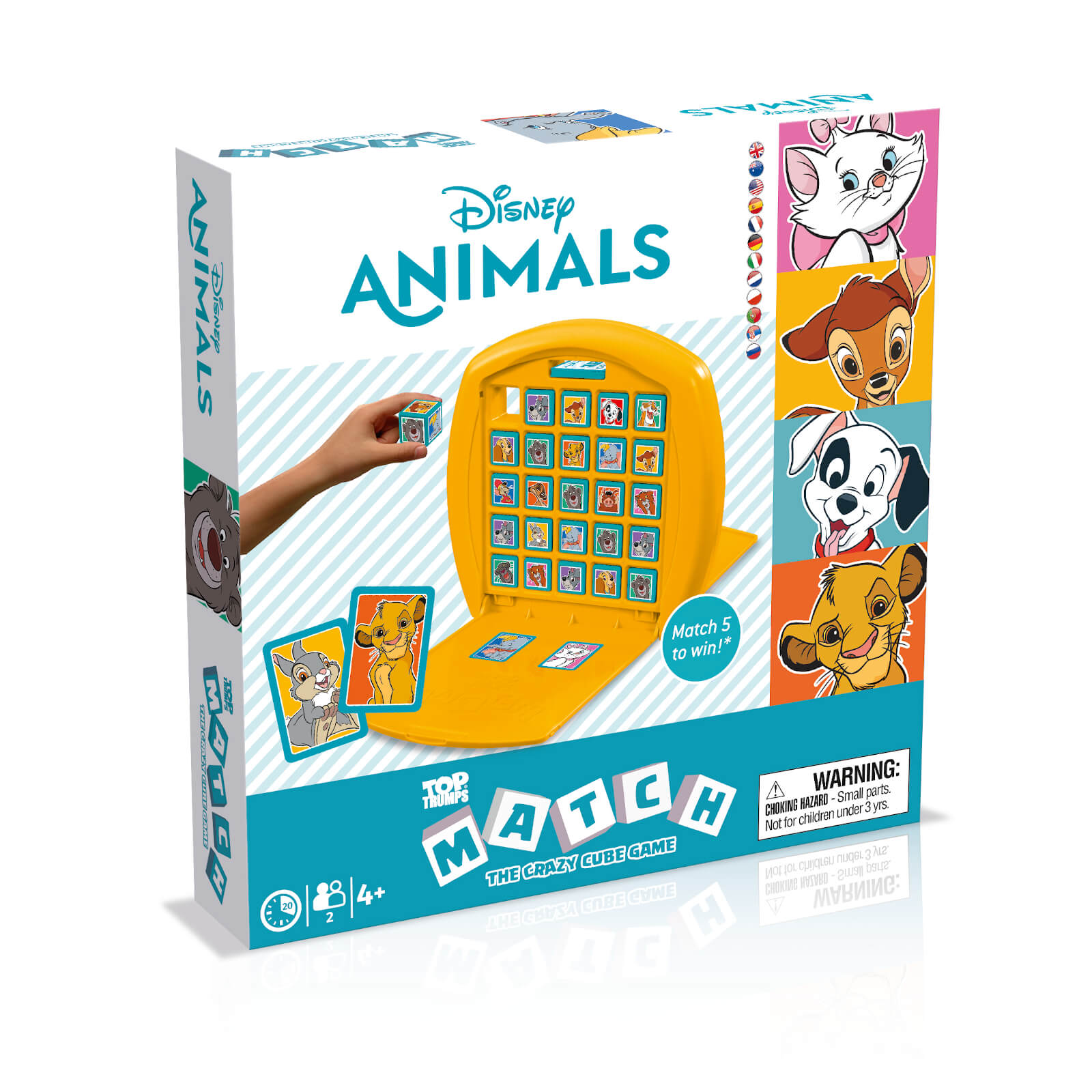 Image of Top Trumps Match Board Game - Disney Animals Edition