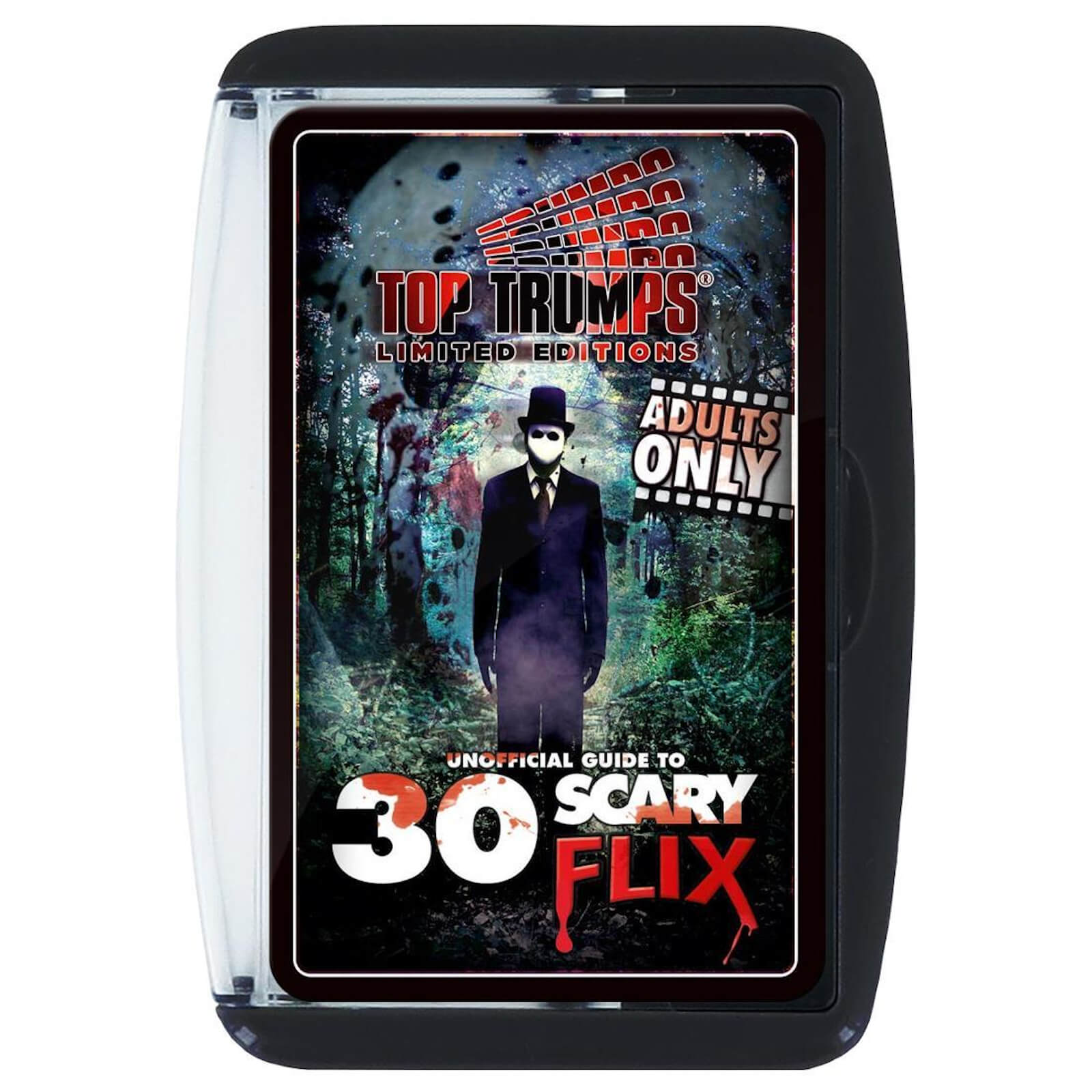 Image of Top Trumps Card Game - Unofficial Guide to 30 Scary Flix Edition