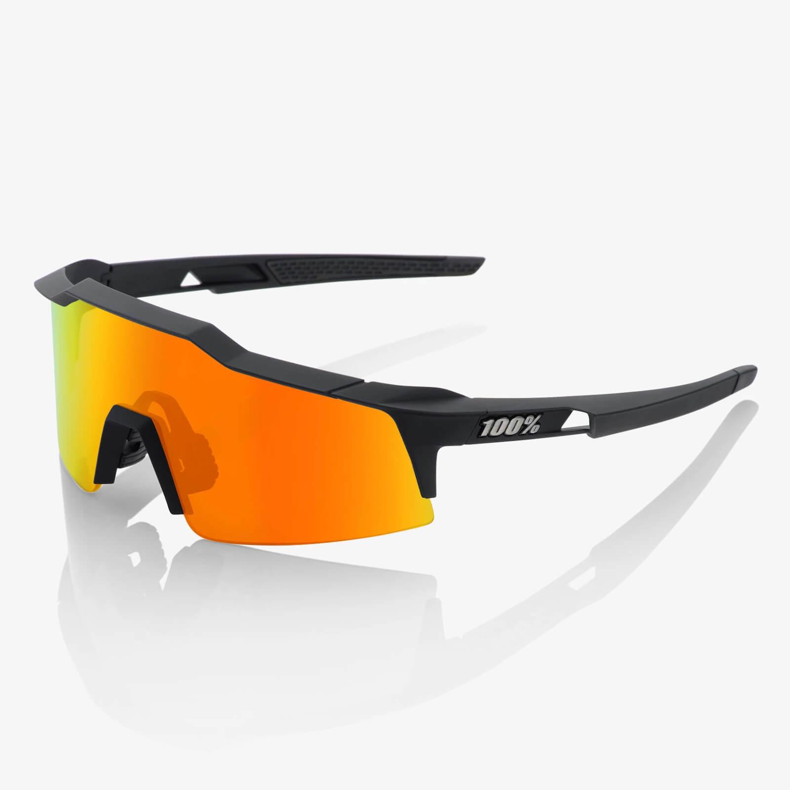 100% Speedcraft Sl Sunglasses With Hiper Mirror Lens - Soft Tact Black/red Lens