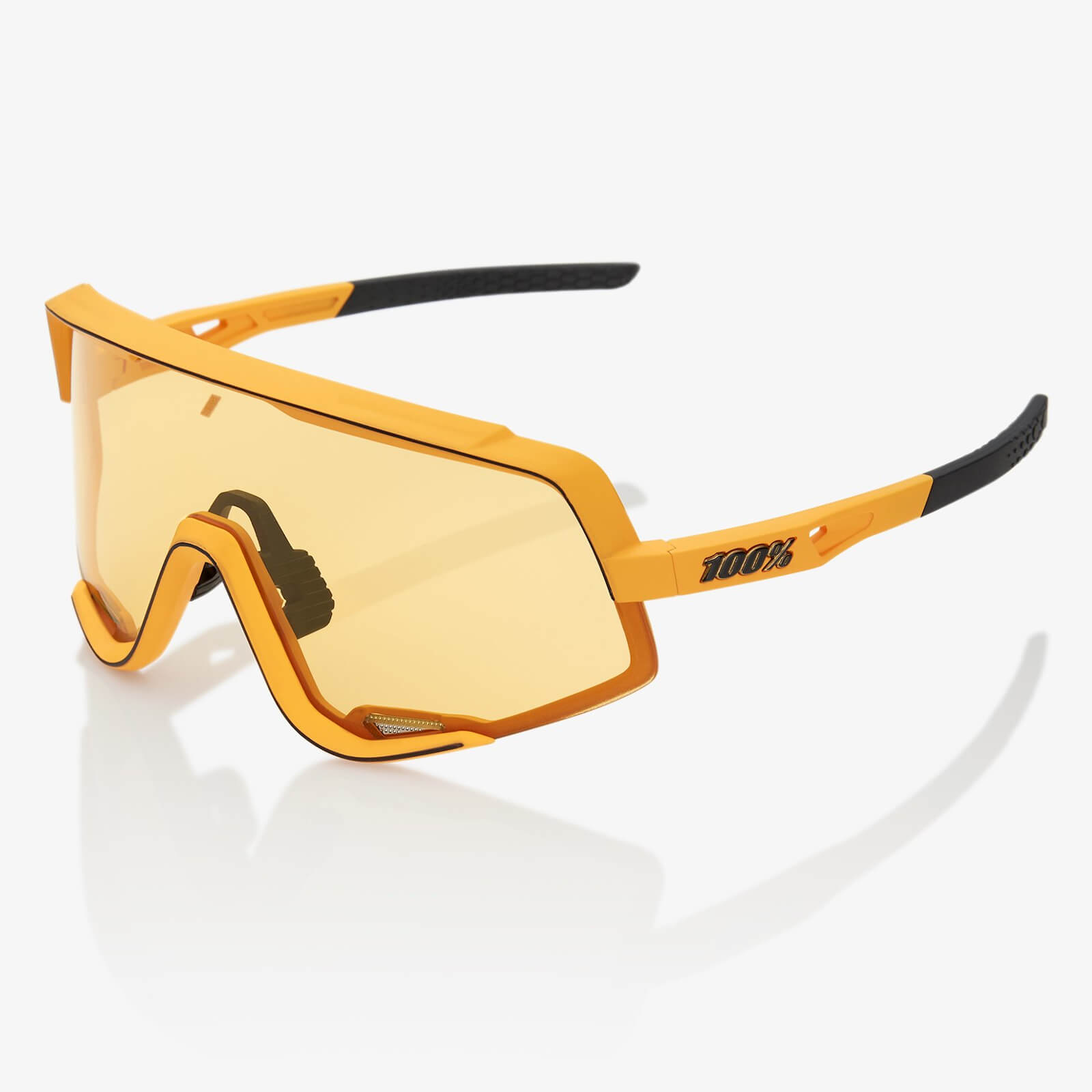 100% Glendale Sunglasses - Soft Tact Mustard/Yellow Lens