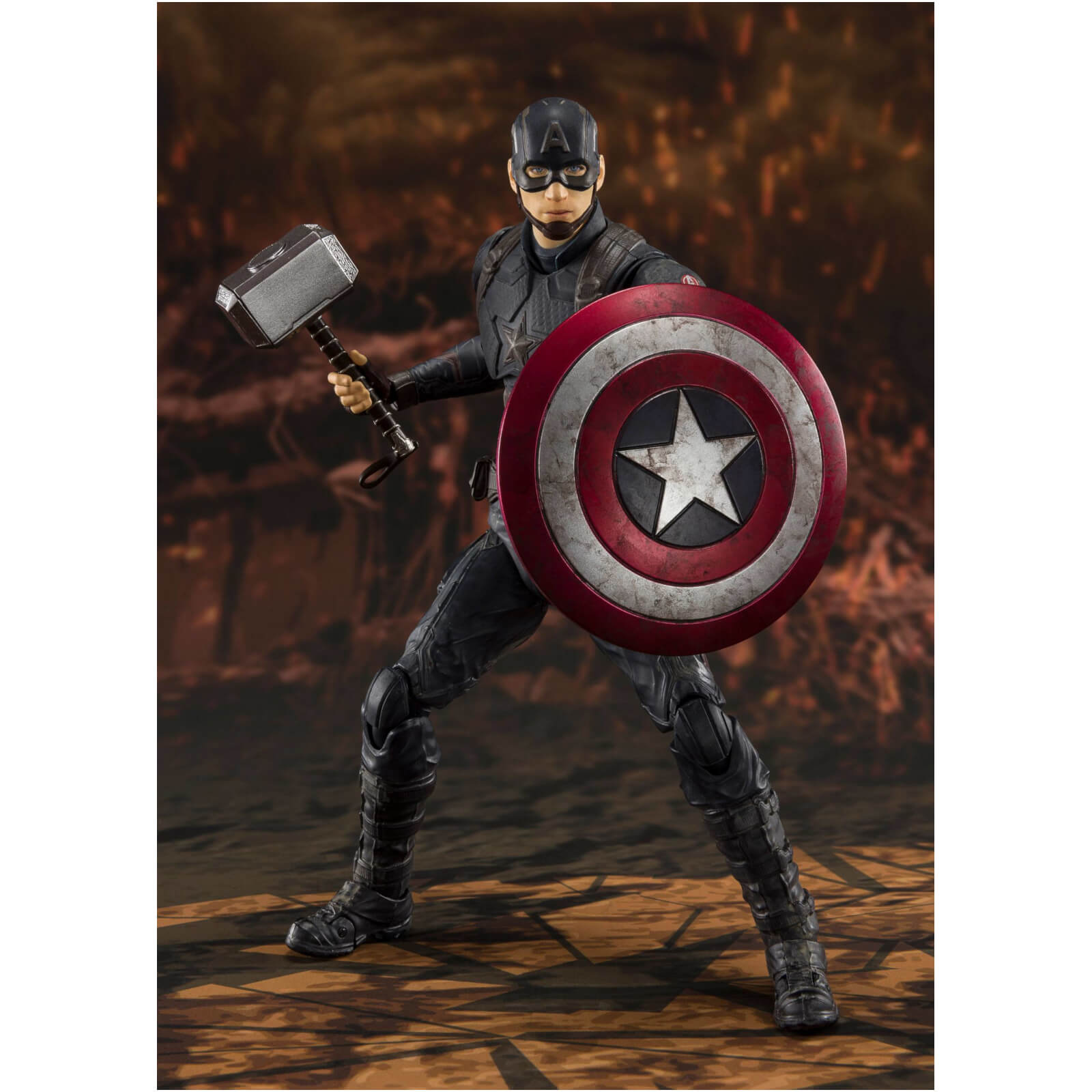 Image of Bandai Tamashii Nations Avengers: Endgame S.H. Figuarts Action Figure Captain America (Final Battle) 15 cm