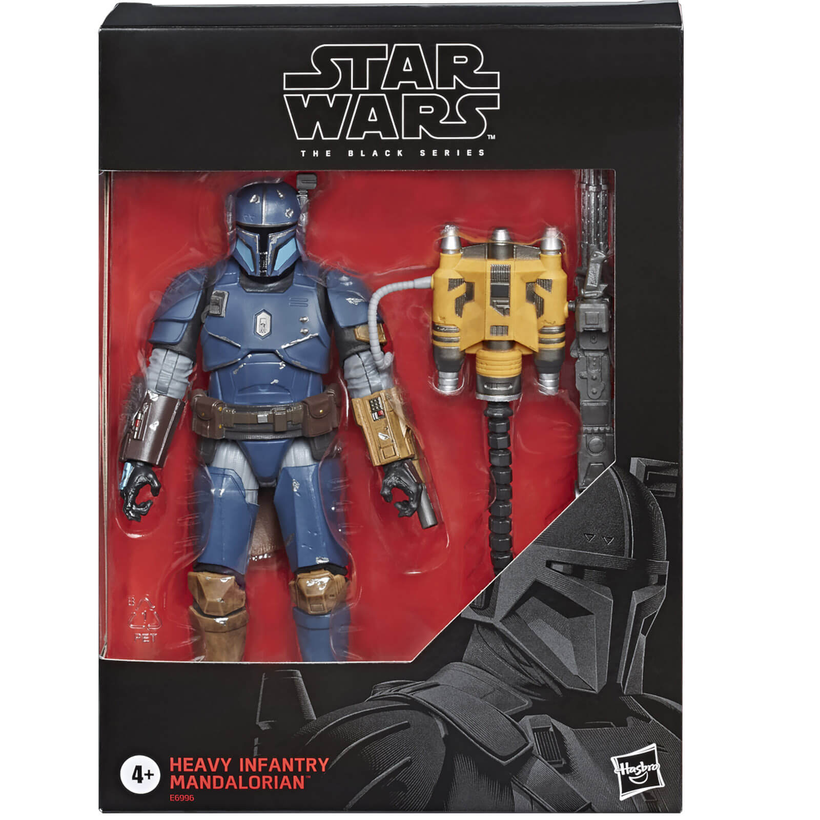 Image of Hasbro Star Wars The Mandalorian The Black Series Heavy Infantry 6 Inch Action Figure