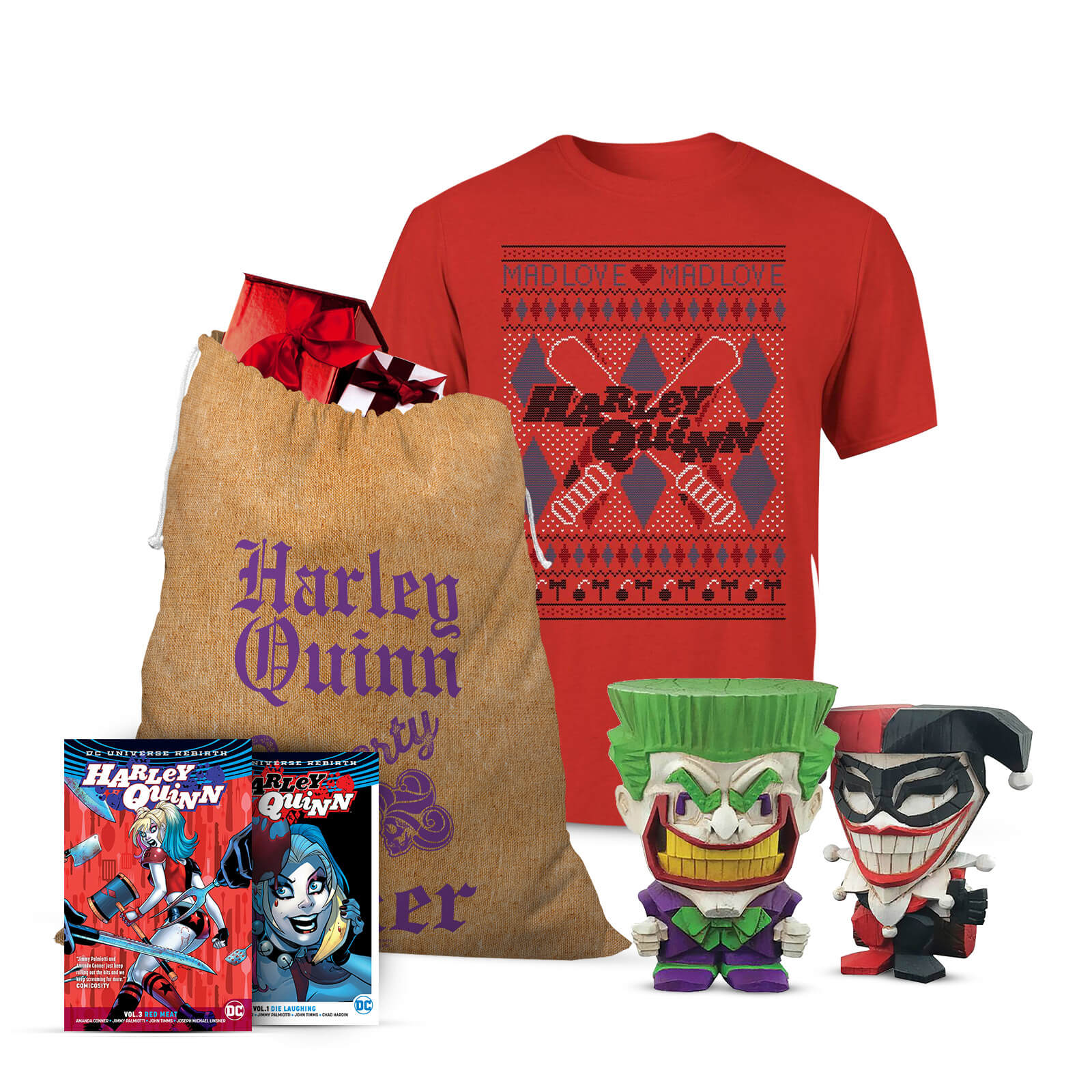 Image of DC Comics Joker and Harley Officially Licensed Christmas Bundle - M