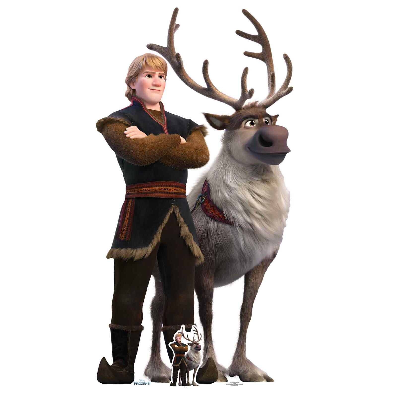 Image of Disney Frozen 2 Kristoff & Sven Oversized Carboard Cut Out