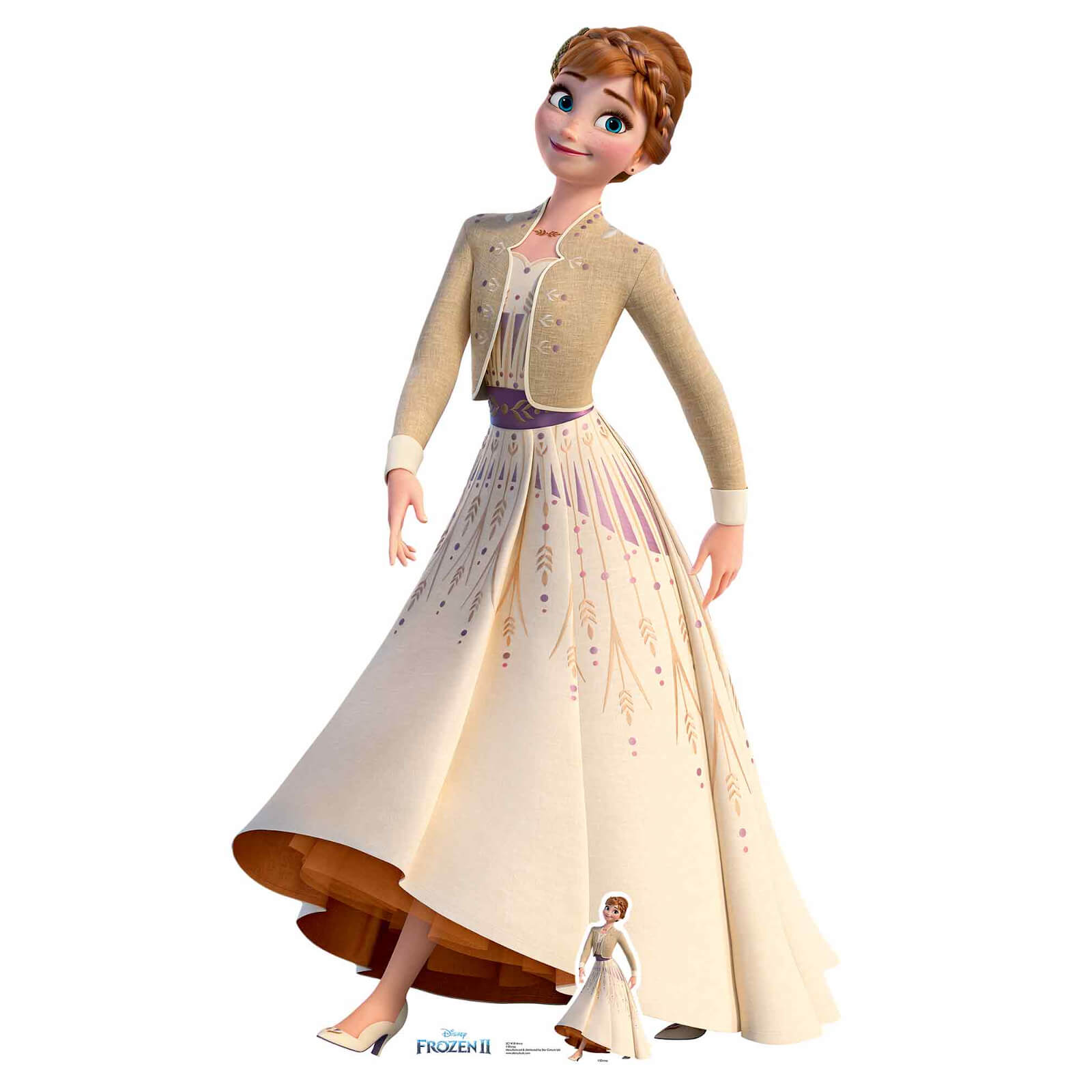 Image of Disney Frozen 2 Anna Lifesized Carboard Cut Out
