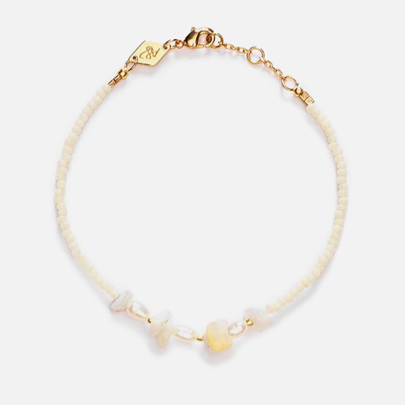 Anni Lu Women's Emmanuelle Bracelet - Cream Pearl