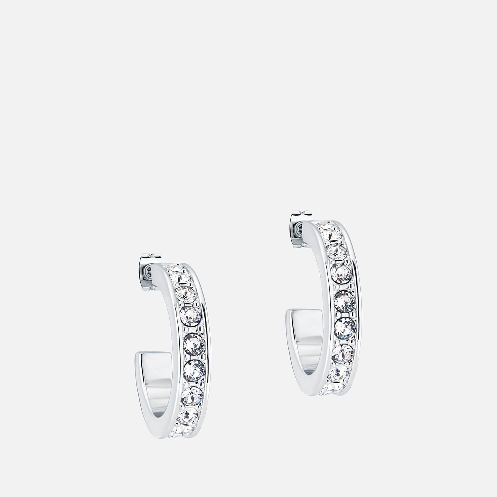 Ted Baker Women's Seanna: Small Crystal Hoop Earring - Silver/Crystal