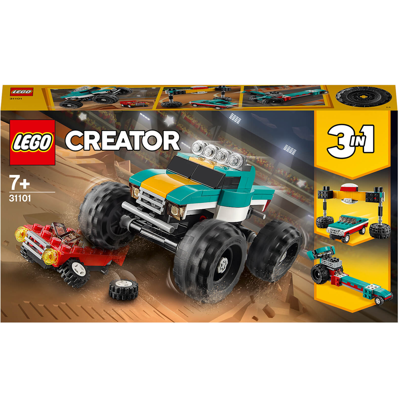 LEGO Creator: 3in1 Monster Truck Demolition Car Toy (31101)