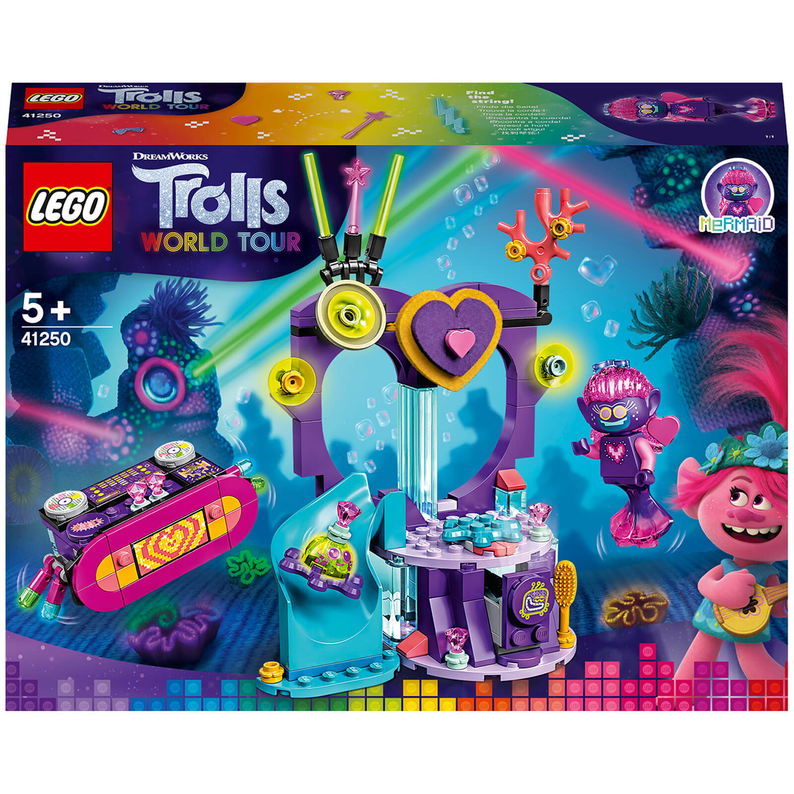 Image of LEGO DreamWorks Trolls World Tour Techno Reef Dance Party - 41250