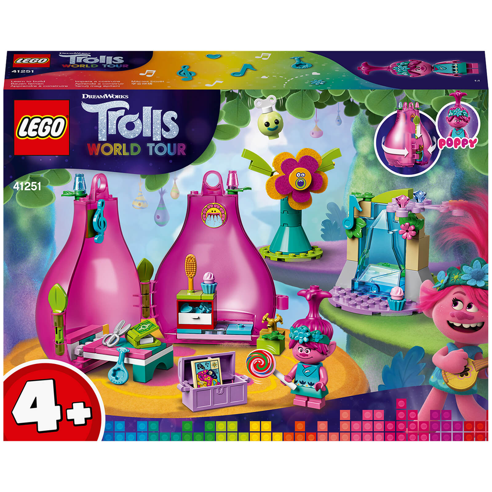 Image of LEGO DreamWorks Trolls World Tour Poppy's Pod - 41251