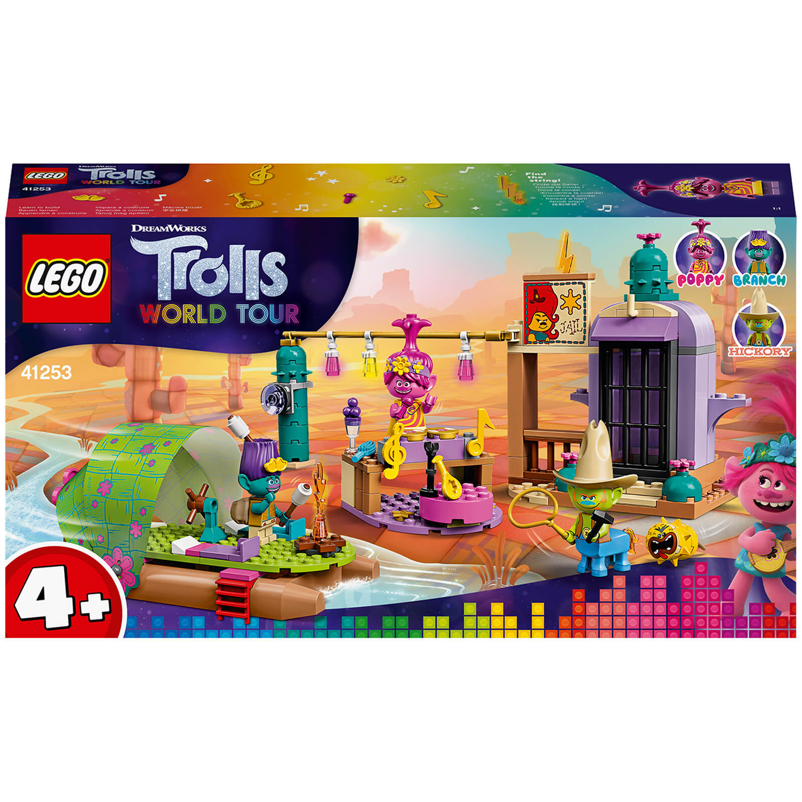 Image of LEGO DreamWorks Trolls World Tour Lonesome Flats Raft Adventure - 41253