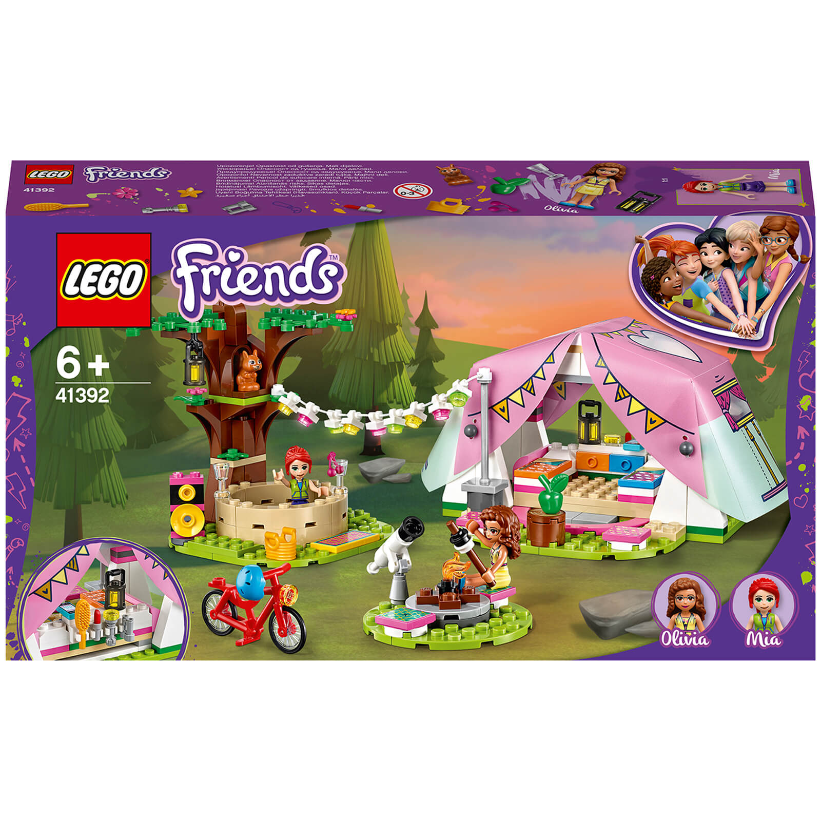 Image of 41392 LEGO® FRIENDS Camping in Heartlake City