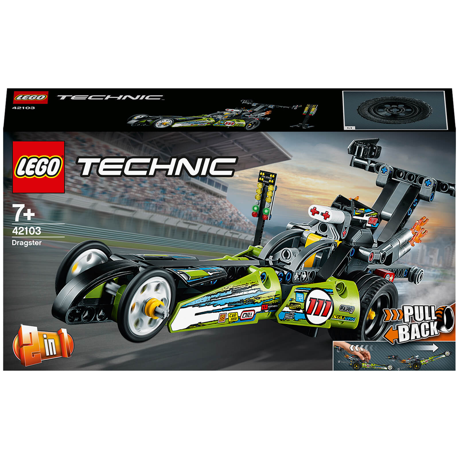 Image of 42103 LEGO® TECHNIC Dragster racing car