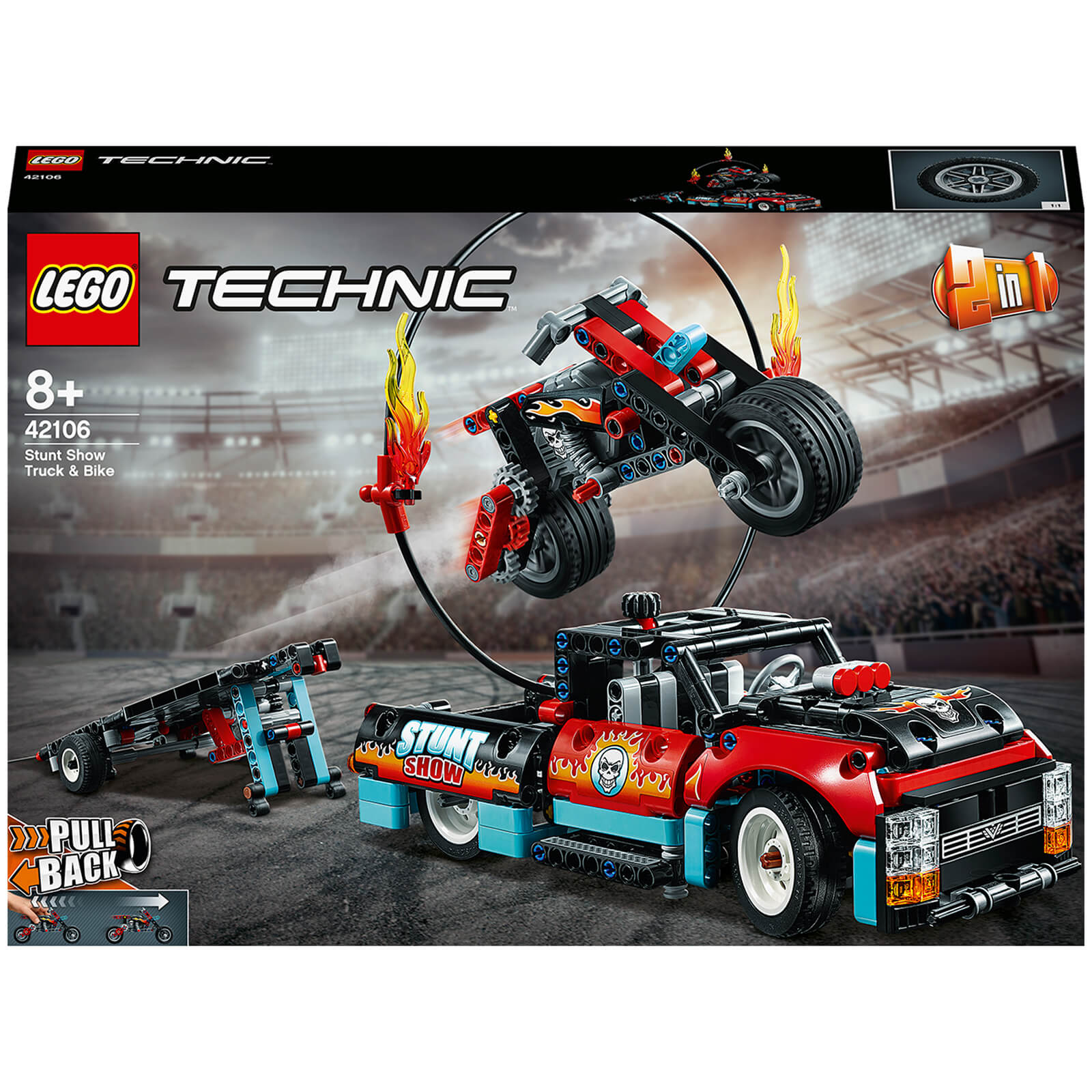 Image of 42106 LEGO® TECHNIC Stunt show with truck and motorbike