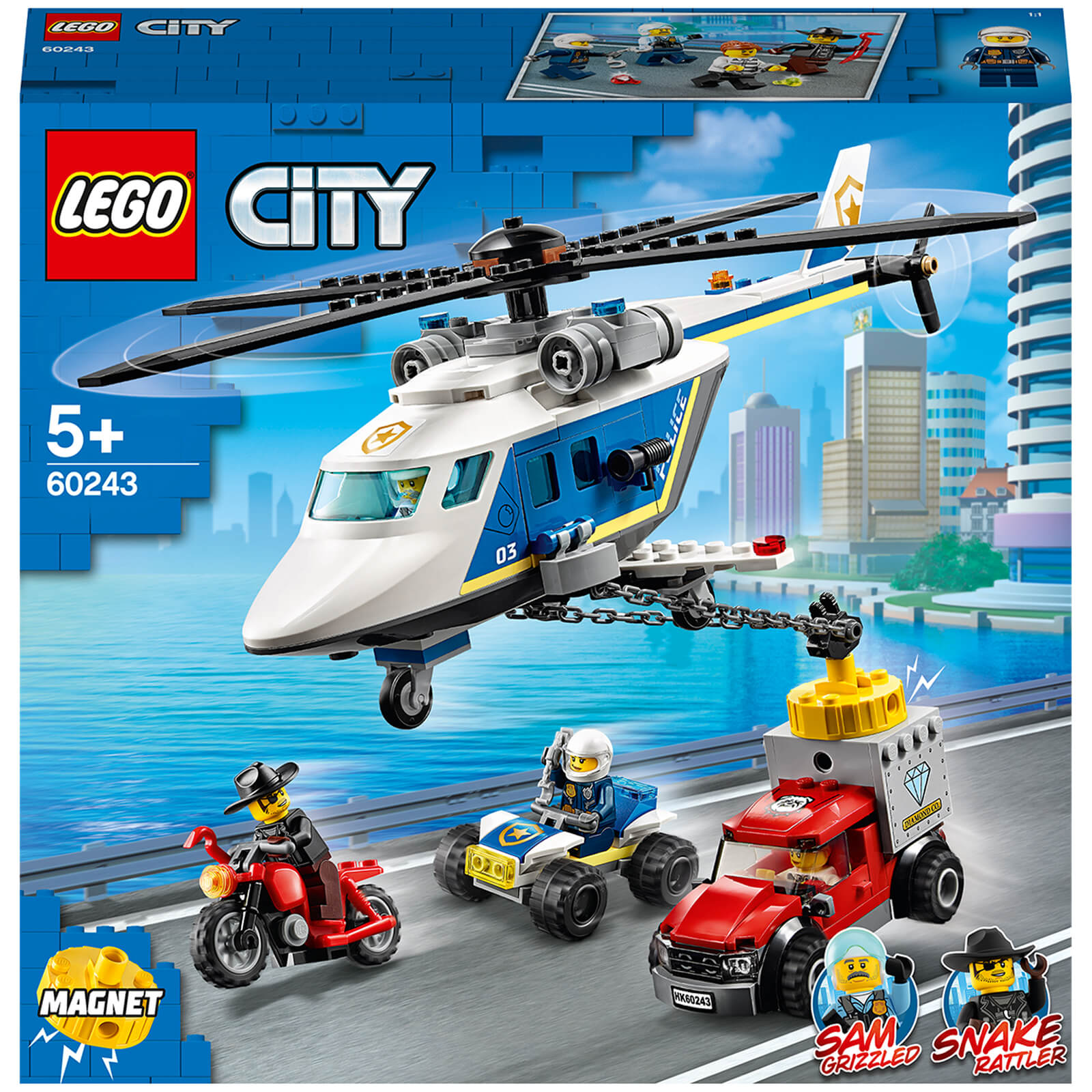 Image of 60243 LEGO® CITY Chase with the police helicopter