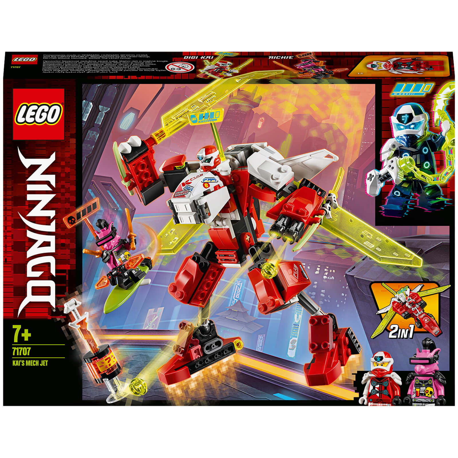 Image of 71707 LEGO® NINJAGO Kais Mech Jet