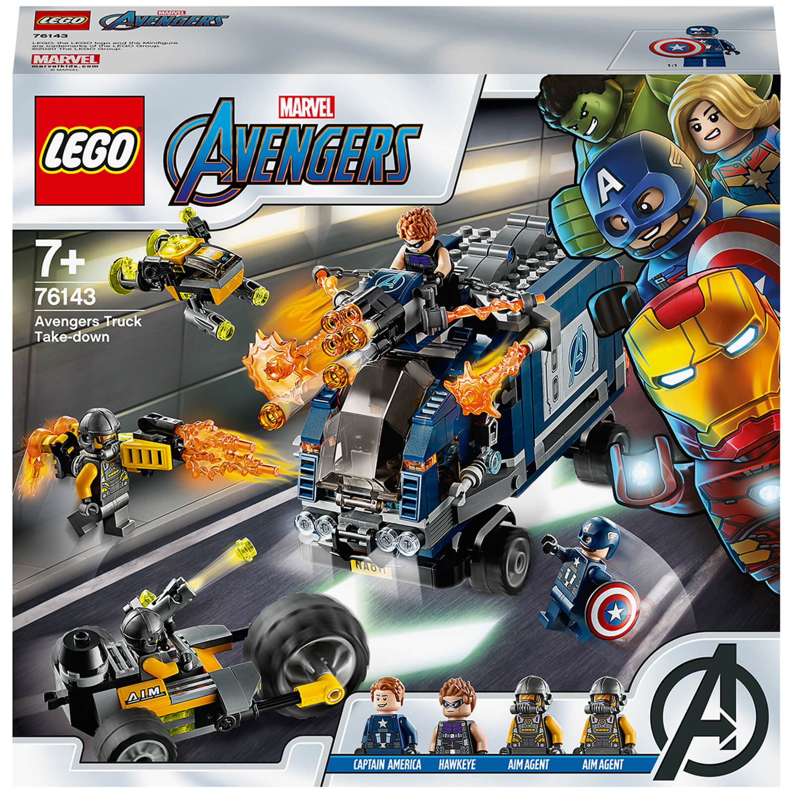 Image of LEGO Super Heroes: Marvel Avengers Truck Take-down Set (76143)
