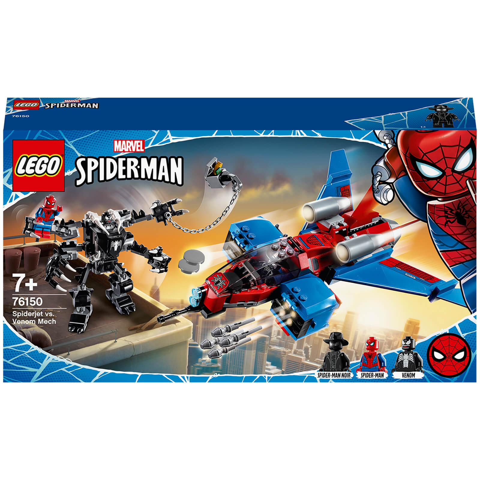 LEGO Marvel Spider Man Jet Vs. Venom Mech Playset (76150)