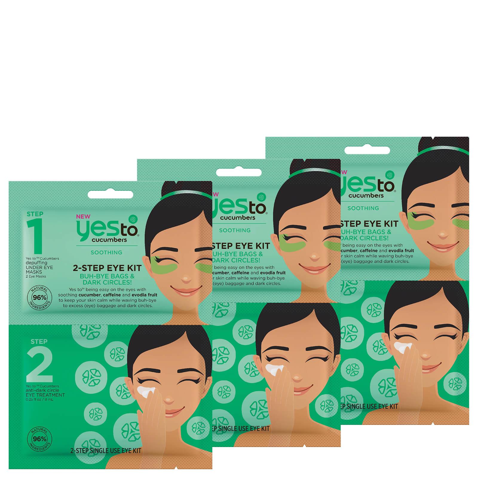 Купить Yes to Cucumbers 2-Step Eye Kit: Buh-Bye Bags and Dark Circles! (Pack of 3)