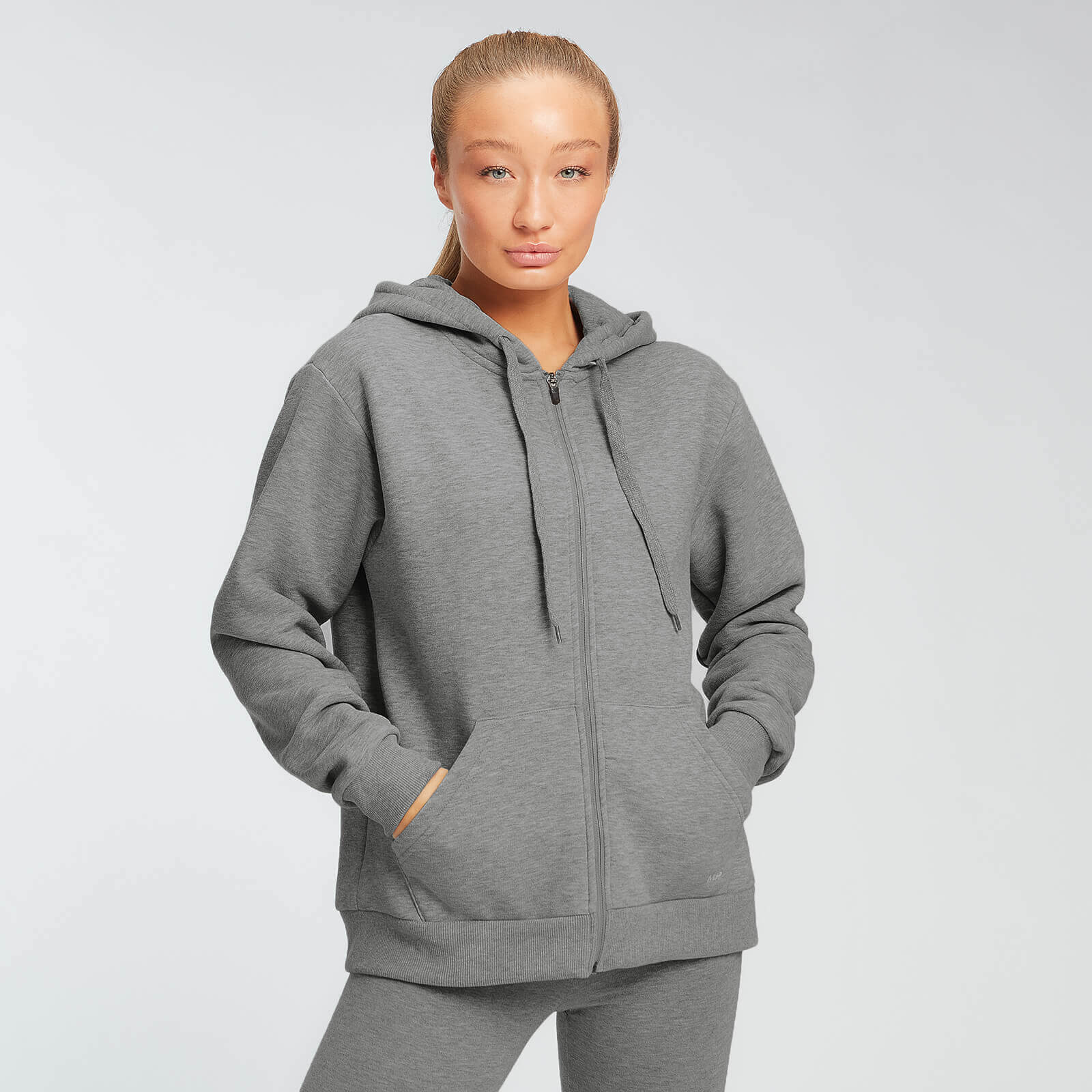 Sweat à capuche zippé MP Essentials pour femmes – Gris chiné - XS