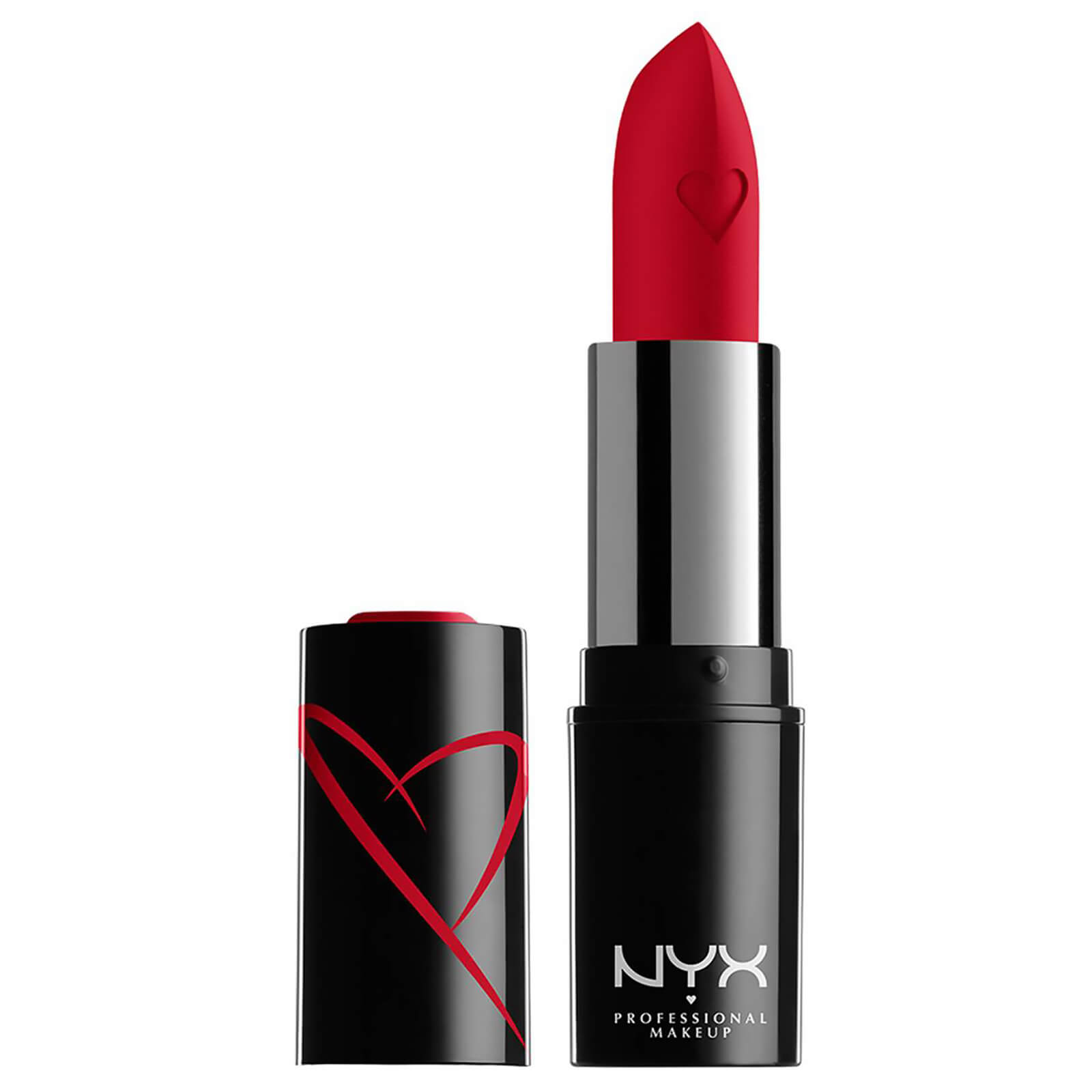 nyx professional makeup shout loud hydrating satin lipstick (various shades) - red haute