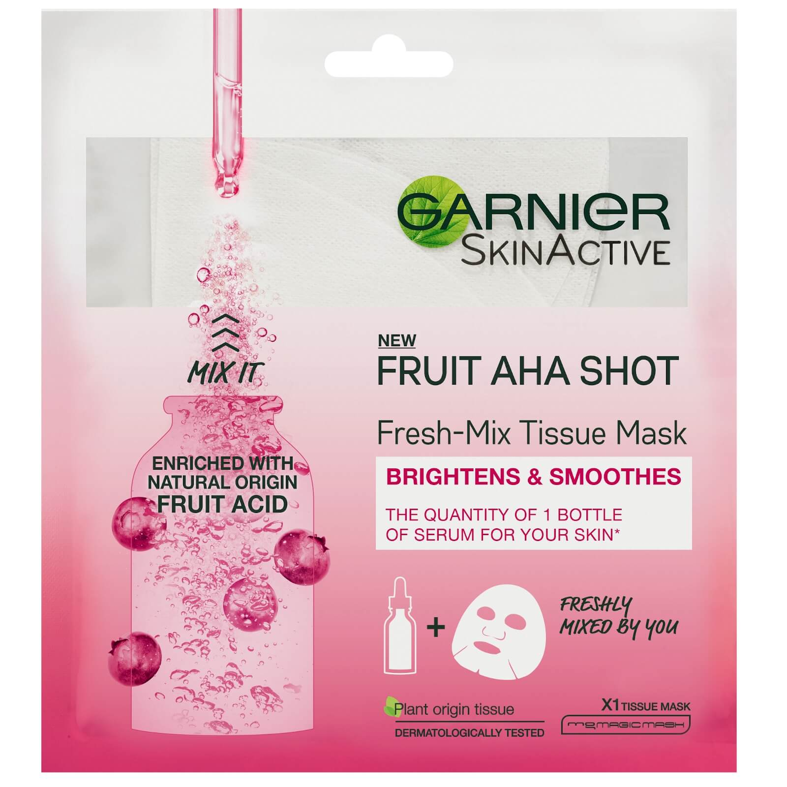Купить Garnier Fresh-Mix Sheet Mask Skin Hydrating Fruit AHA Shot 33g