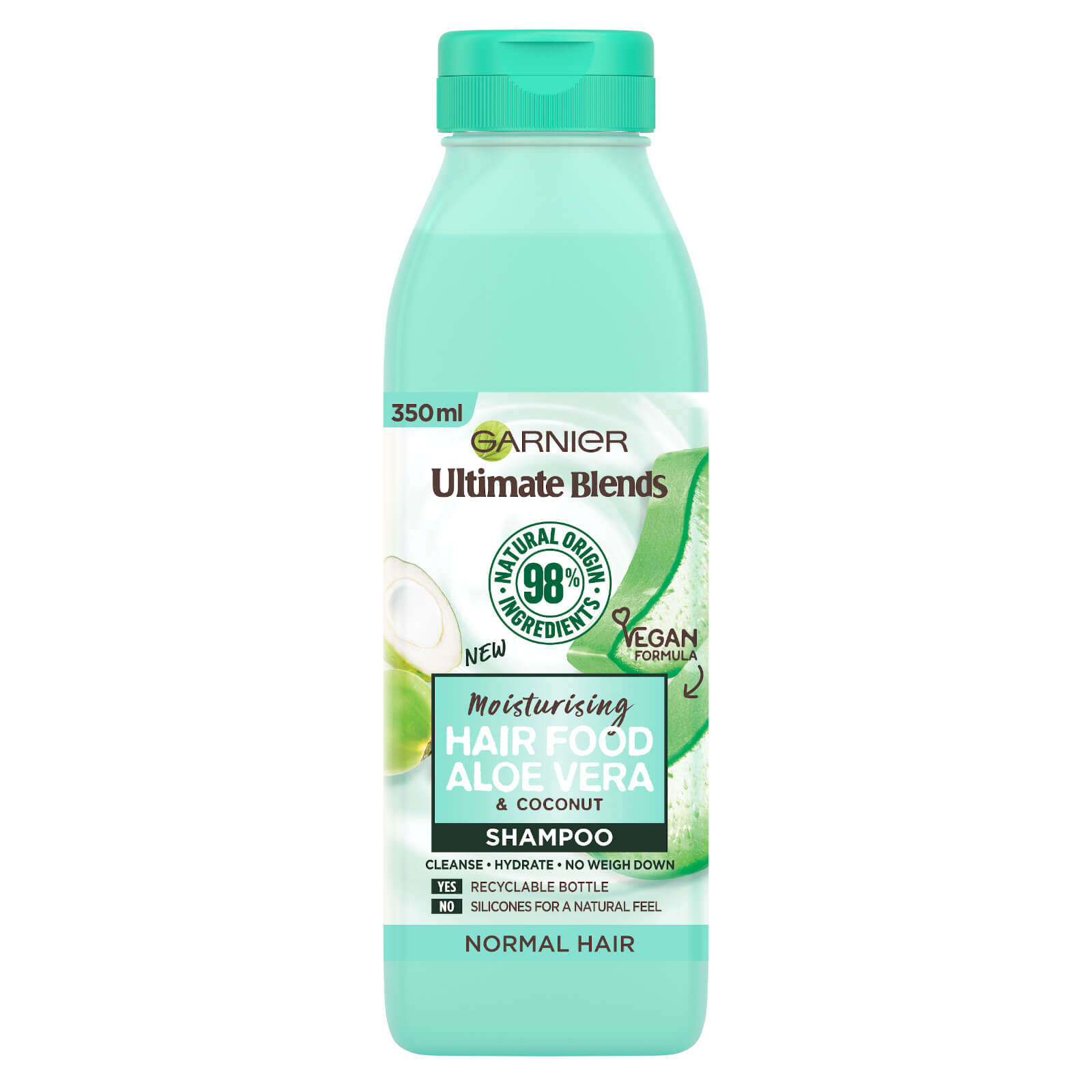 garnier ultimate blends moisturising hair food aloe vera shampoo for normal hair 350ml