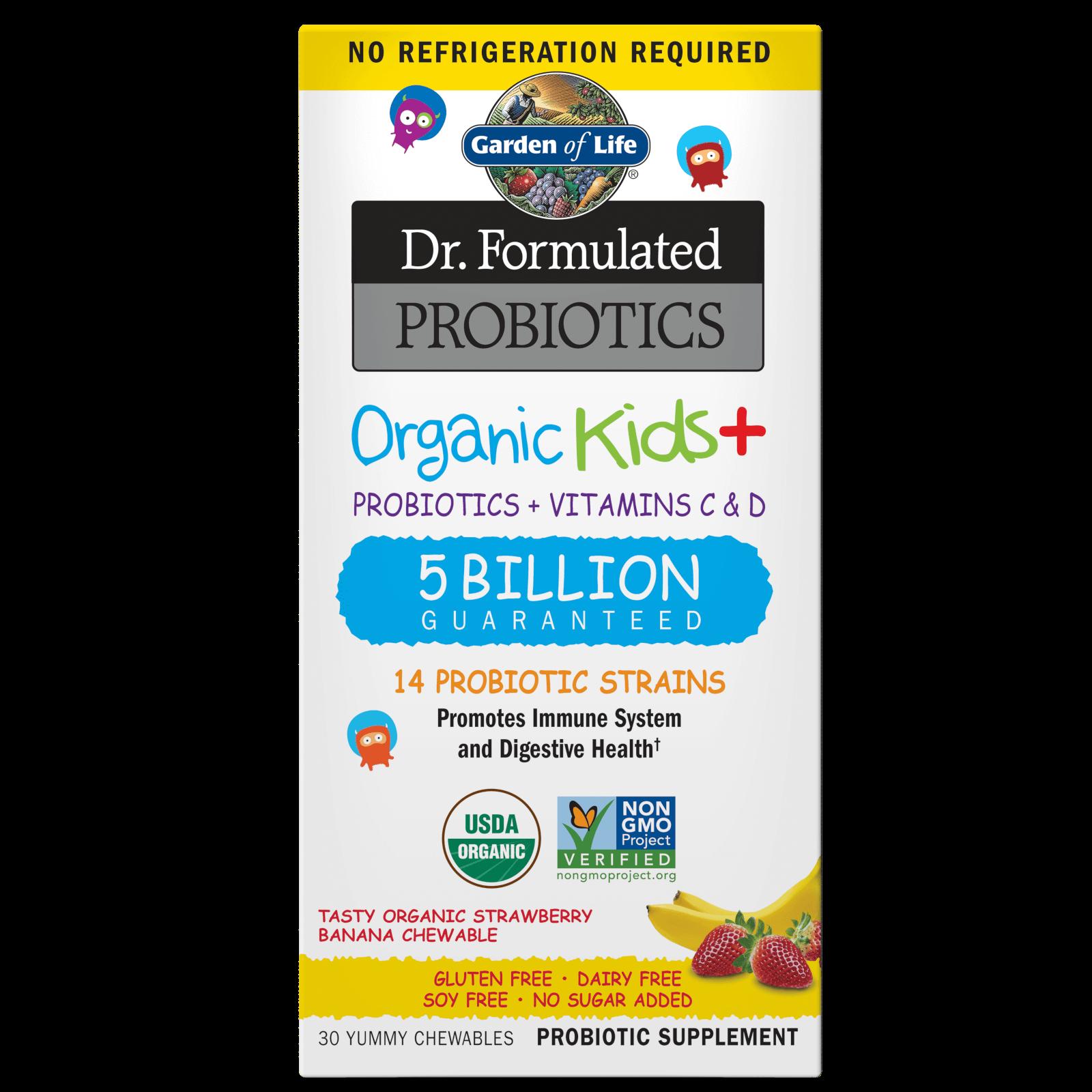 Microbiome Organic Kids - Strawberry Banana - 30 Chewables