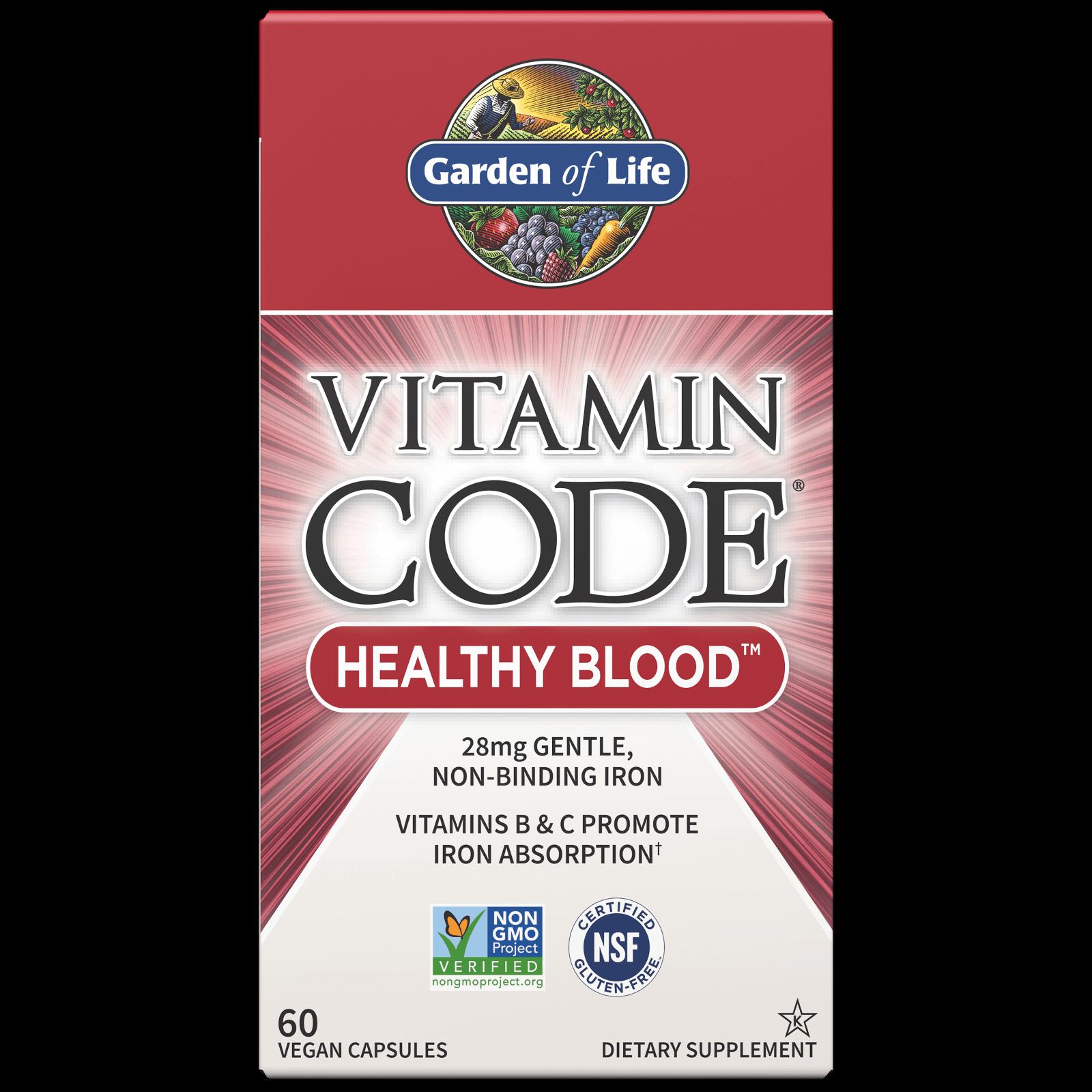 Vitamine Code Healthy Blood - 60 capsules