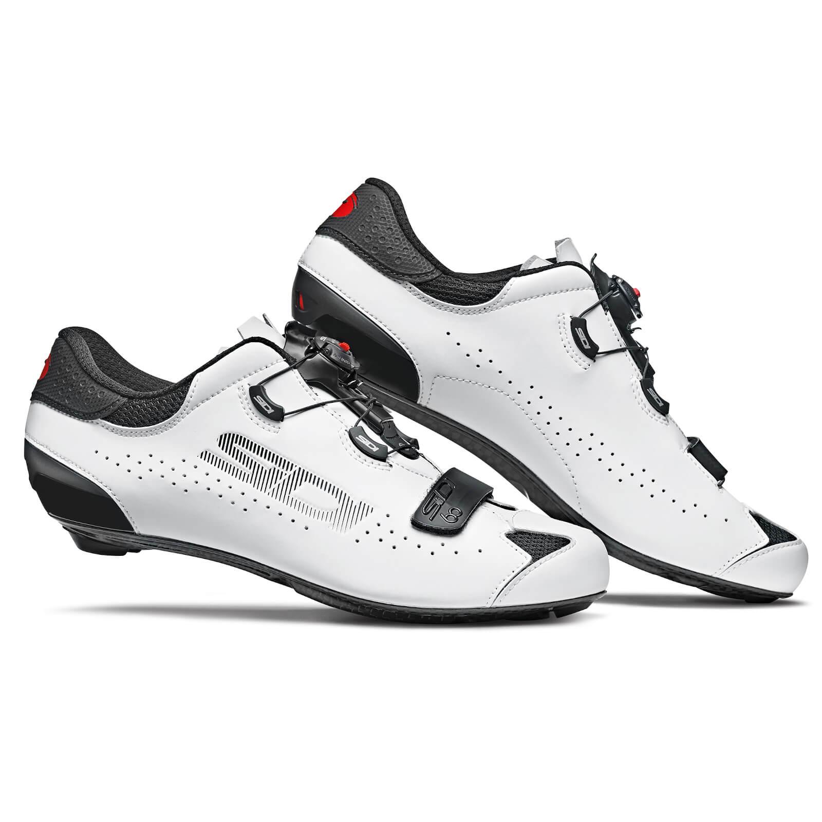 Sidi Sixty Road Shoes - Black/White - EU 44