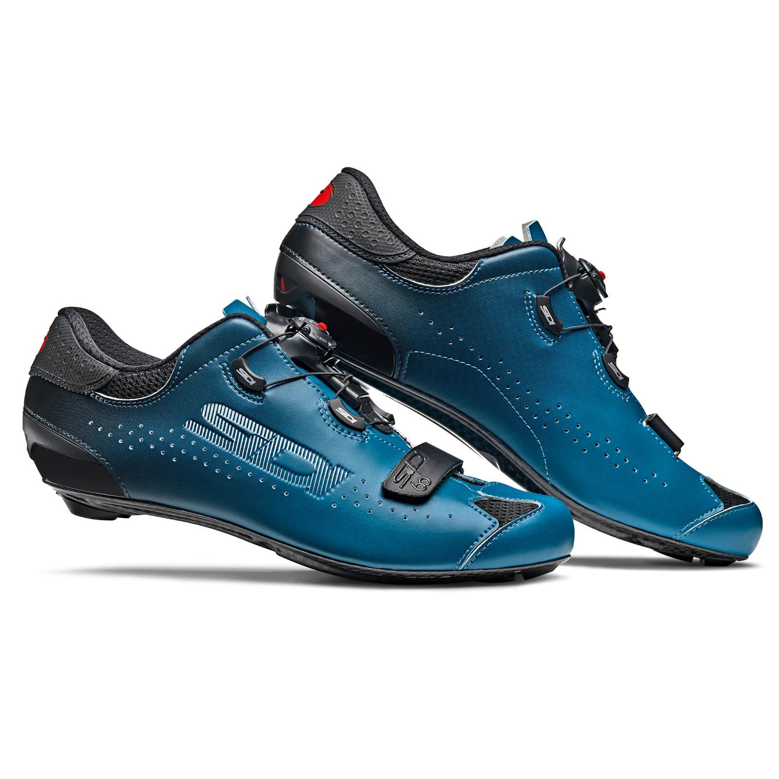 Image of Sidi Sixty Road Shoes - Black/Petrol - EU 43