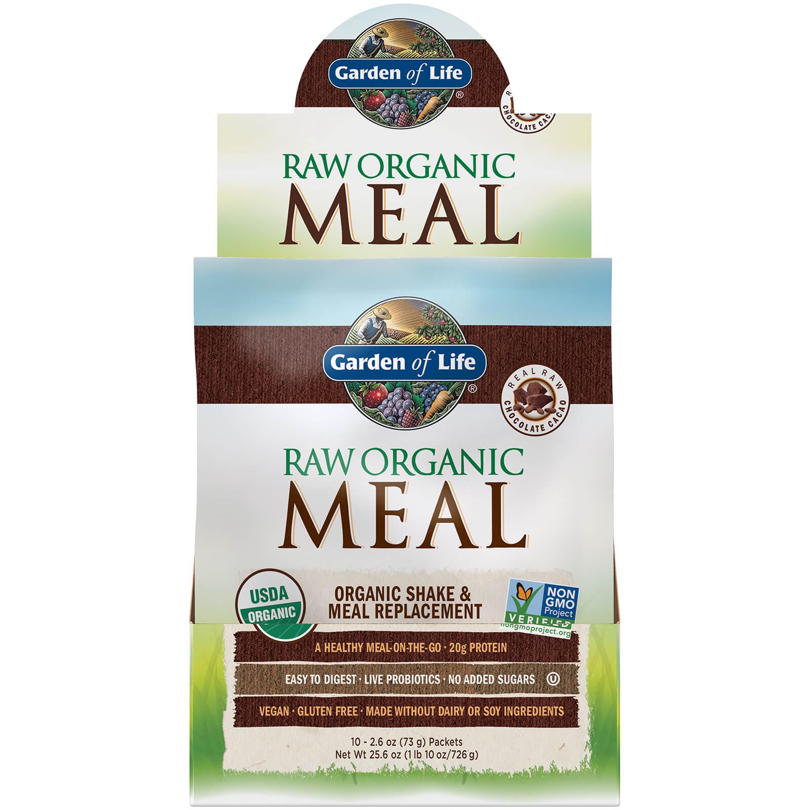 Raw Organic All-In-One Shake - Chocolate - 10 sachets