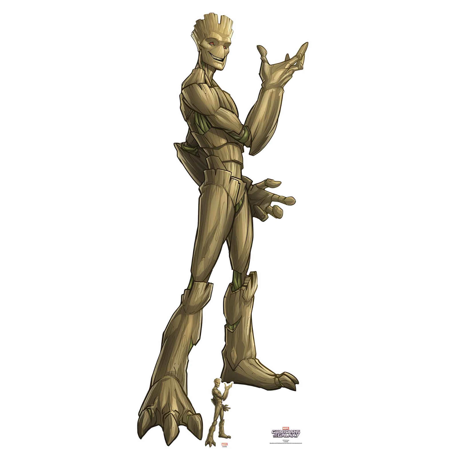 Image of Marvel Guardians of the Galaxy - Groot Oversized Cardboard Cut Out