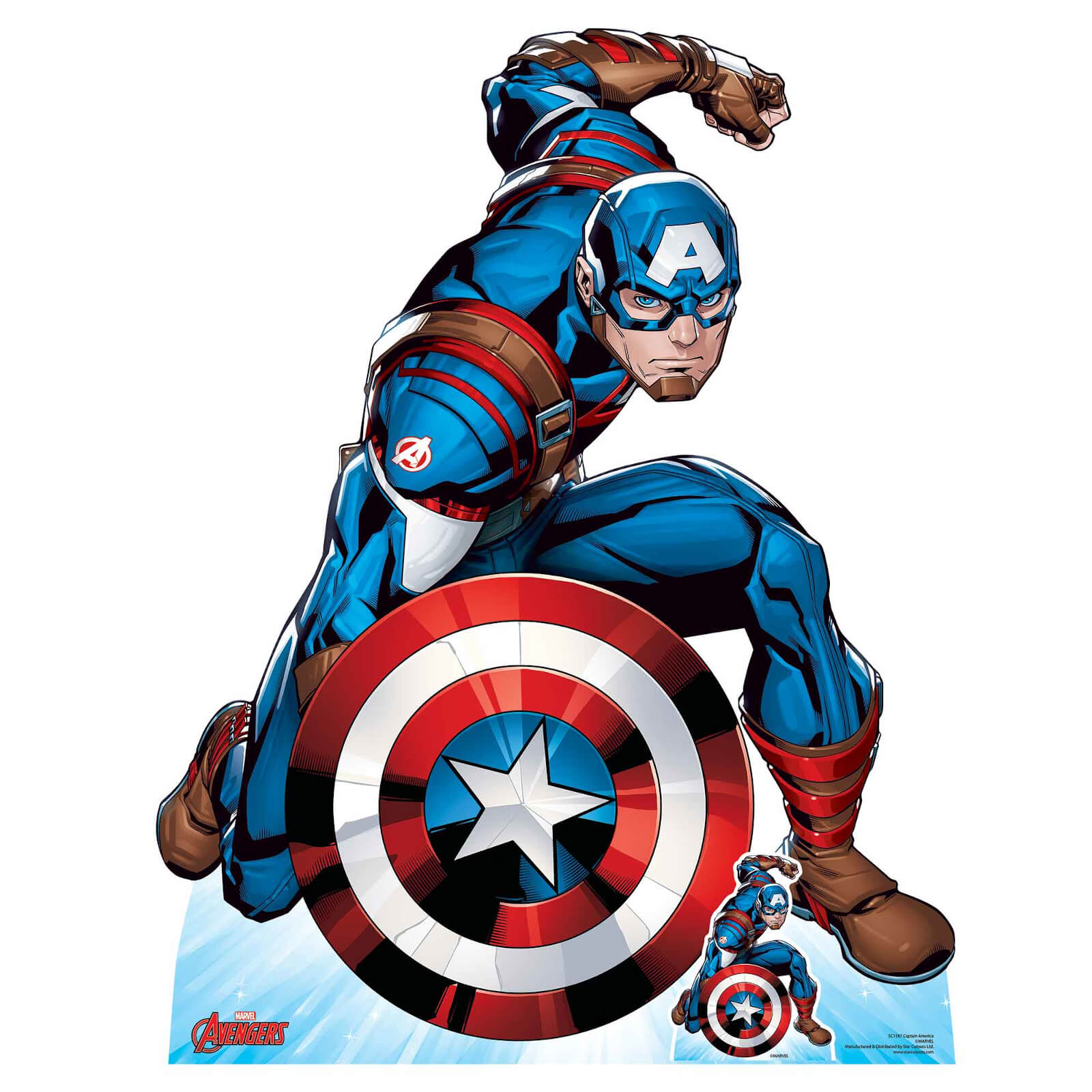 Image of The Avengers Captain America Lifesized Cardboard Cut Out